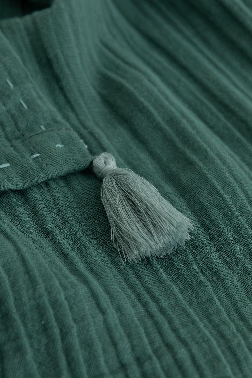 Groene sjaal met tassles - Dames | Sissy-Boy