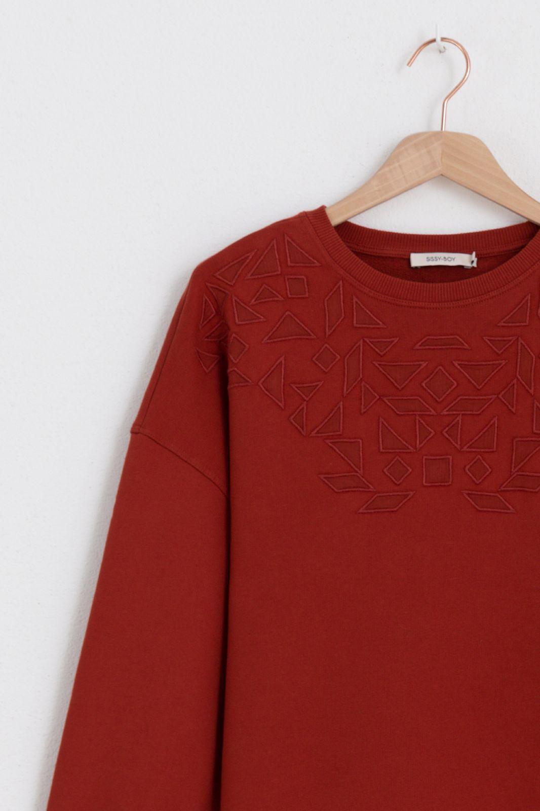 Donkerrode etnic sweater - Dames   Sissy-Boy