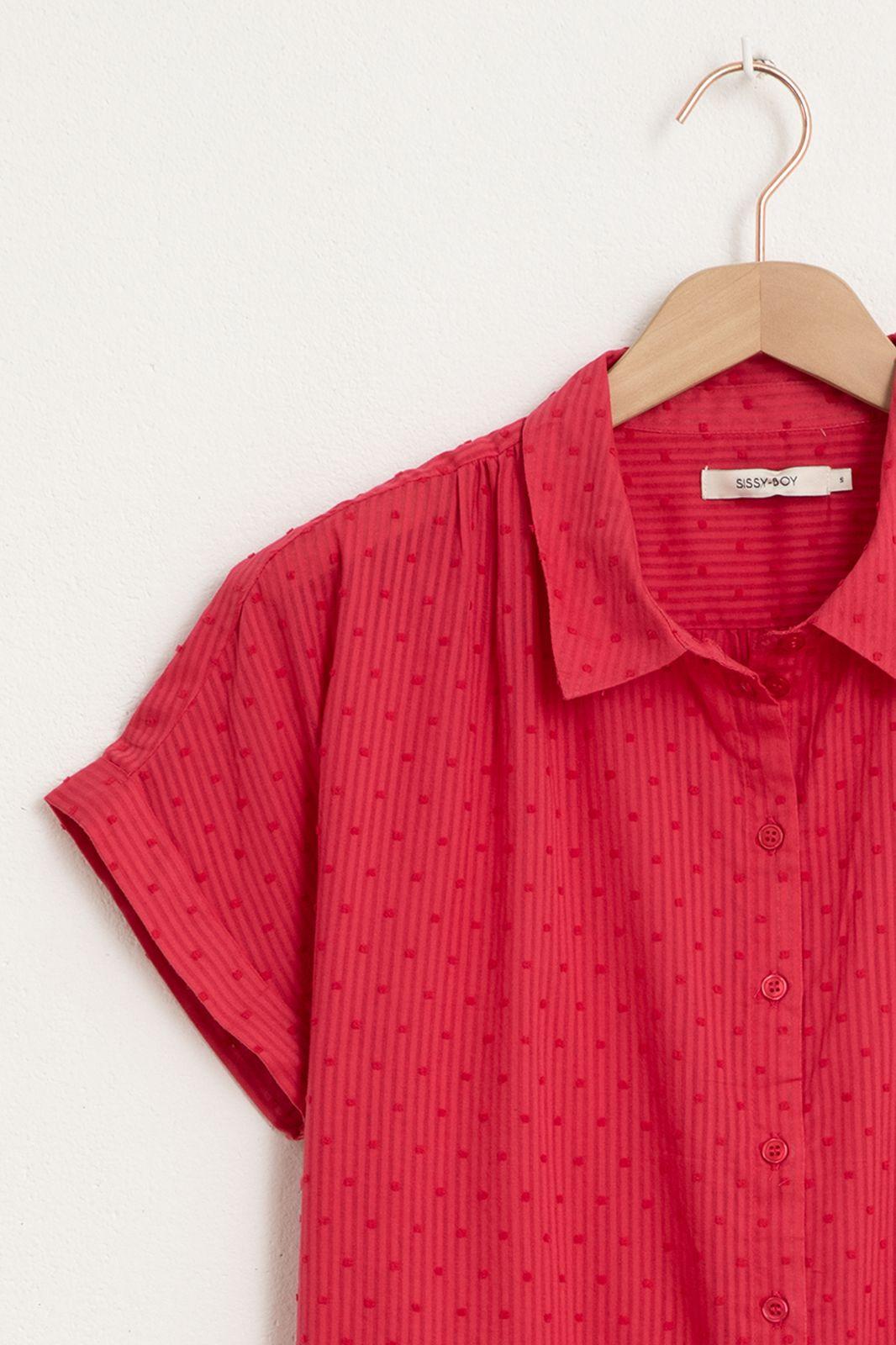 Roze blouse met korte mouwen - Dames | Sissy-Boy