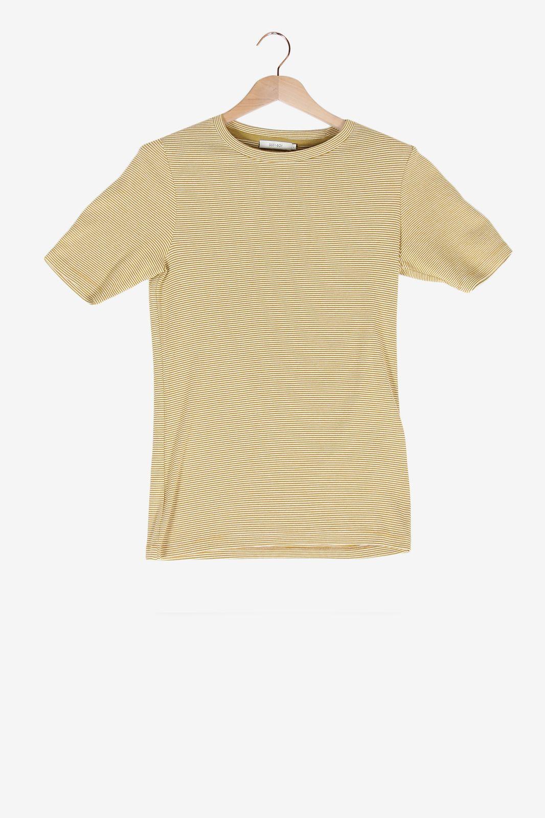 Geel gestreept t-shirt