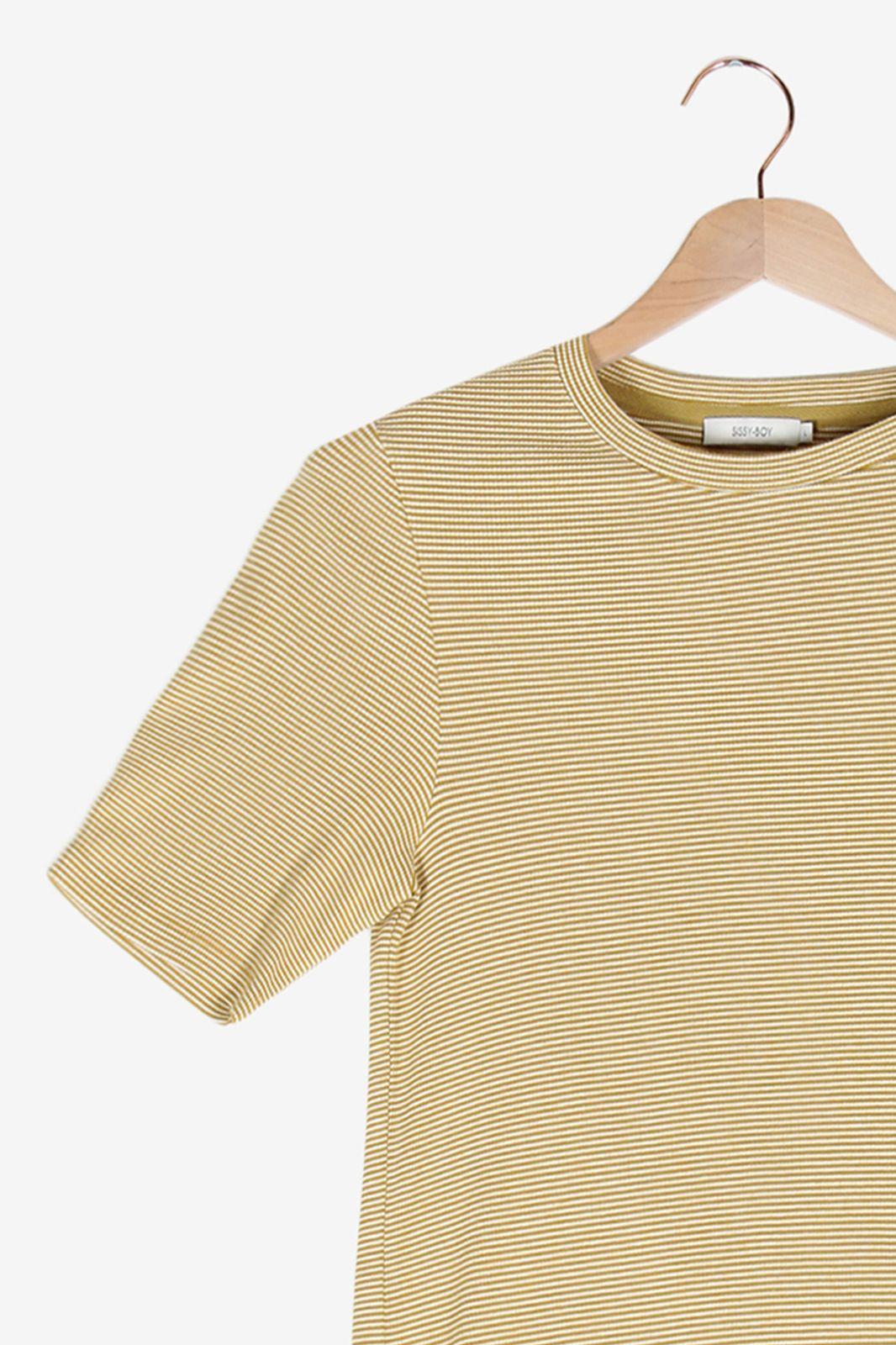 Geel gestreept t-shirt - Dames | Sissy-Boy