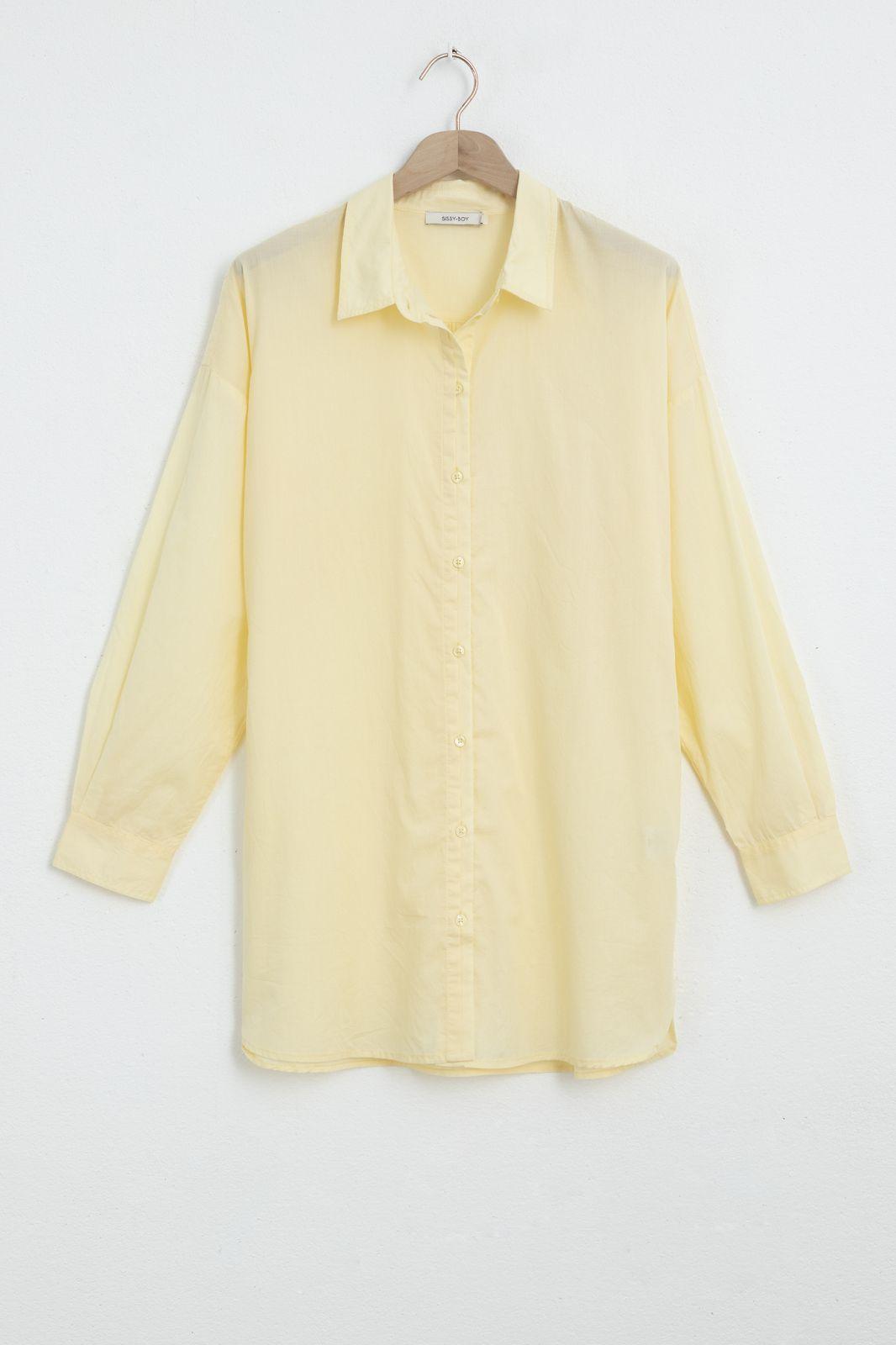 Gele katoenen blouse