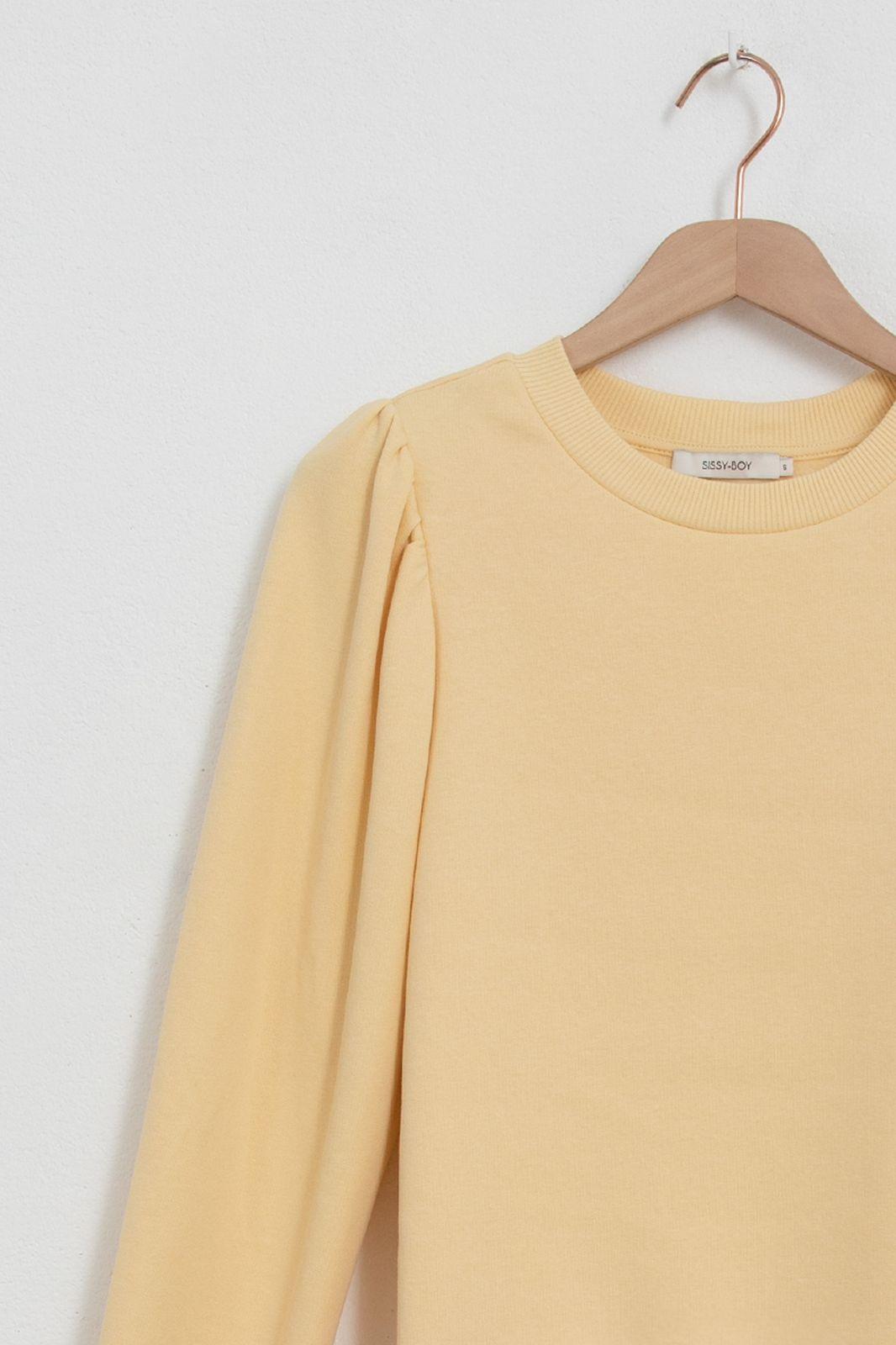 Gele sweater met pofmouwen - Dames | Sissy-Boy