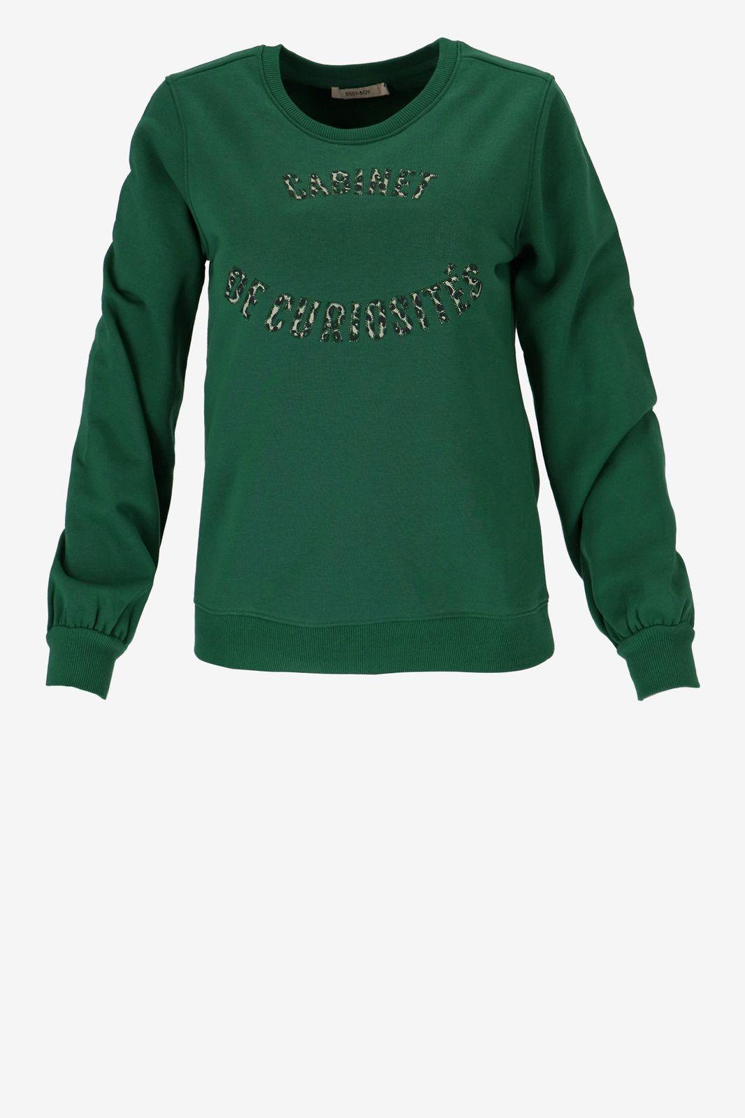 Groene sweater met tekst