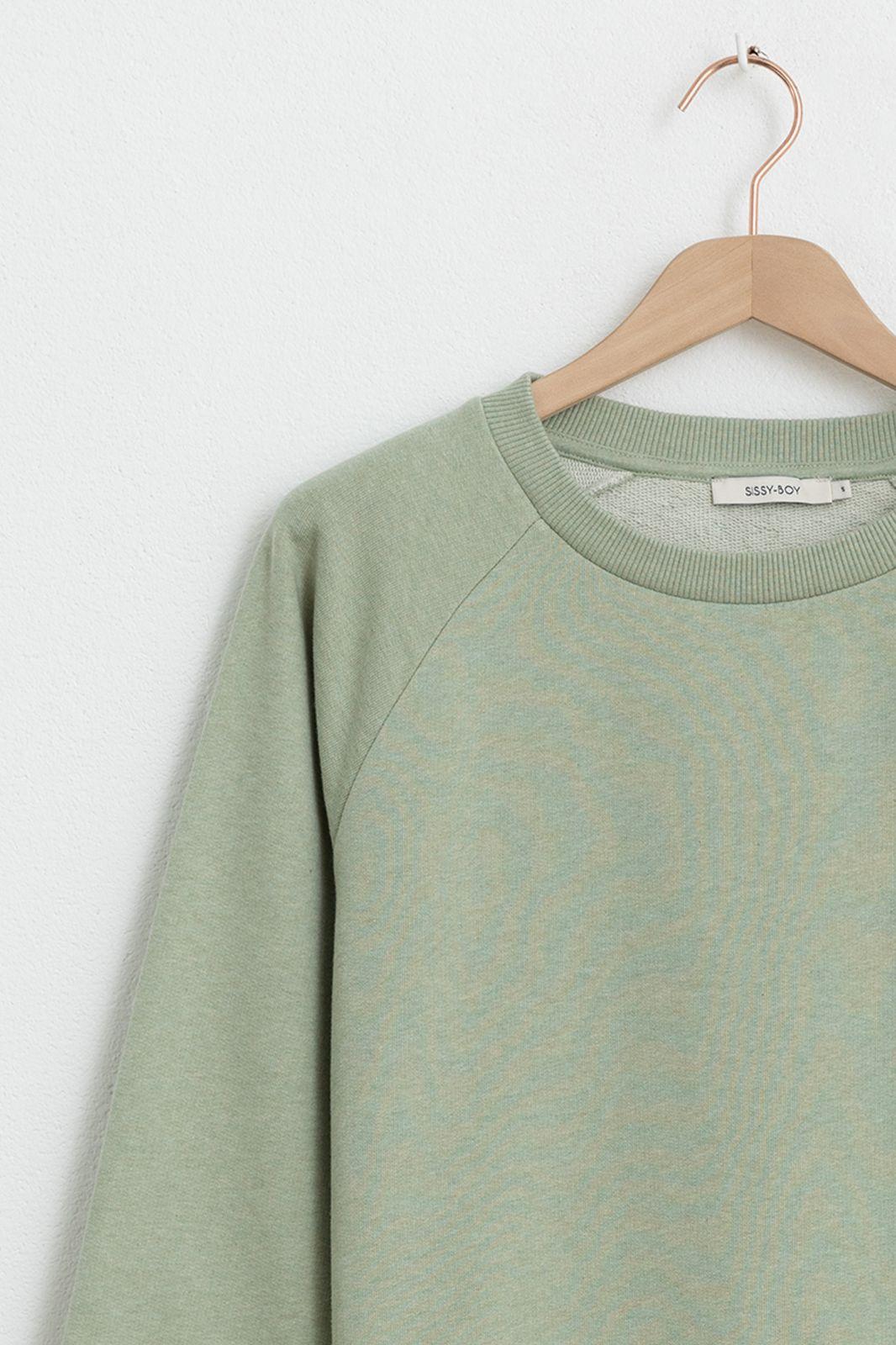 Groene basic sweater