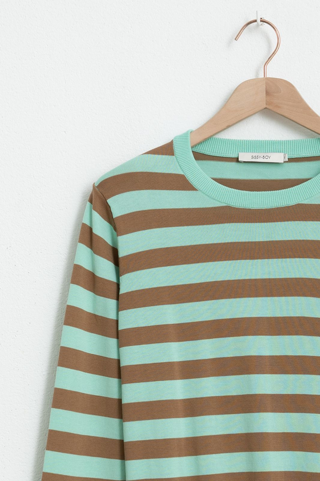 Groene trui gestreept