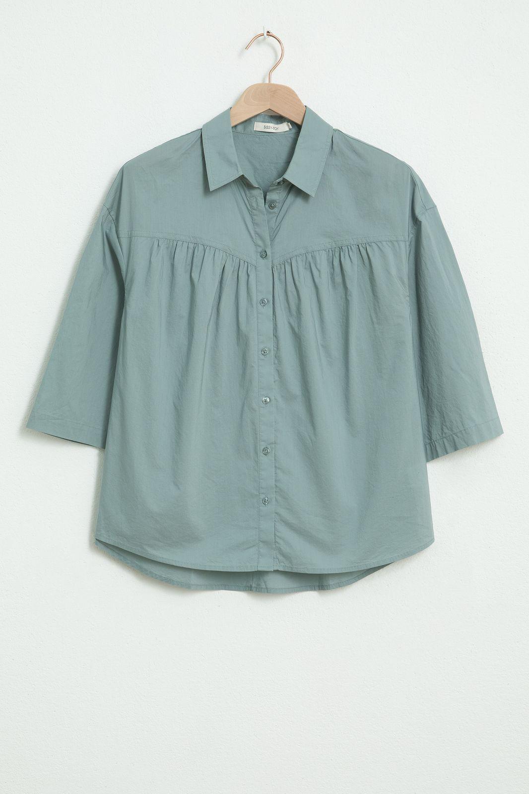 Groene blouse met driekwart mouwen