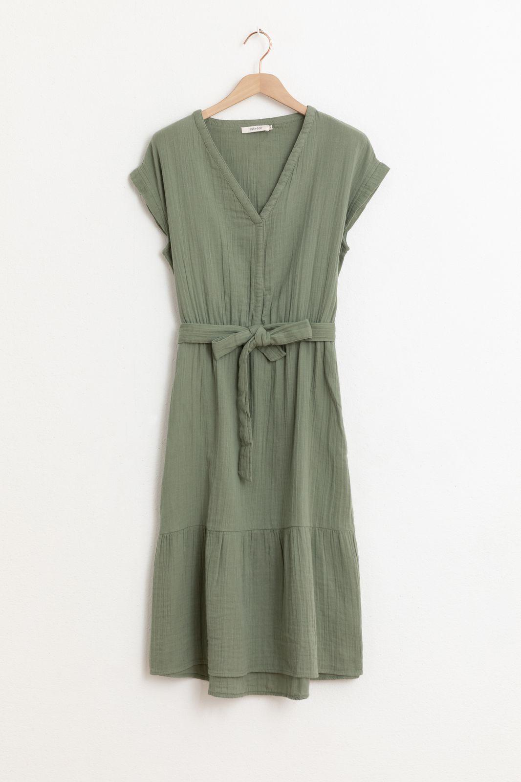 Groene mousseline jurk - Dames | Sissy-Boy