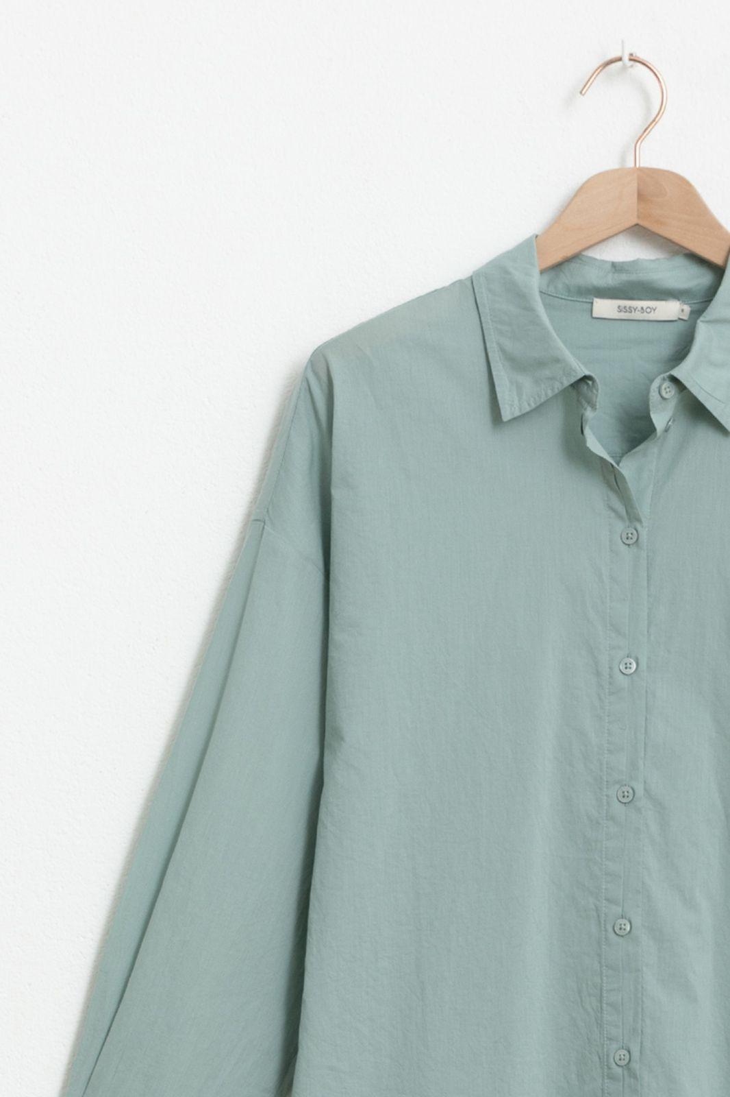 Groene katoenen blouse