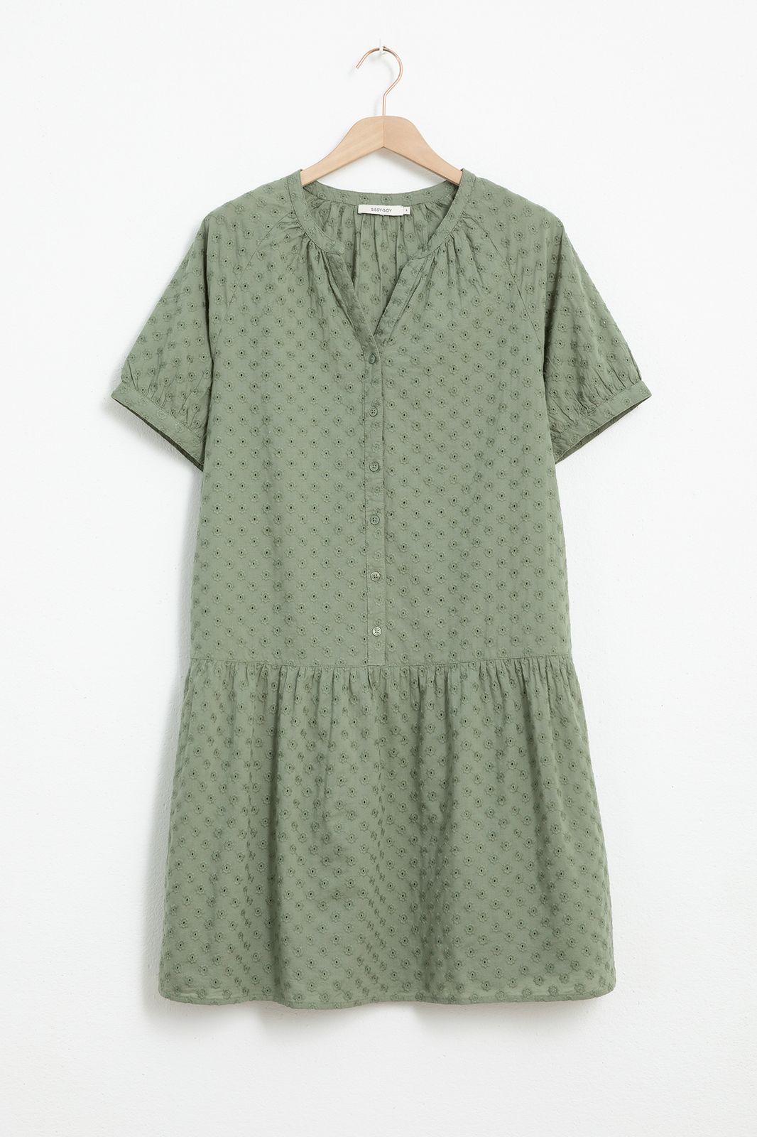 Groen broderie anglais jurk - Dames | Sissy-Boy