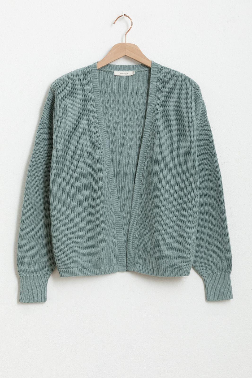 Gilet tricot - bleu clair