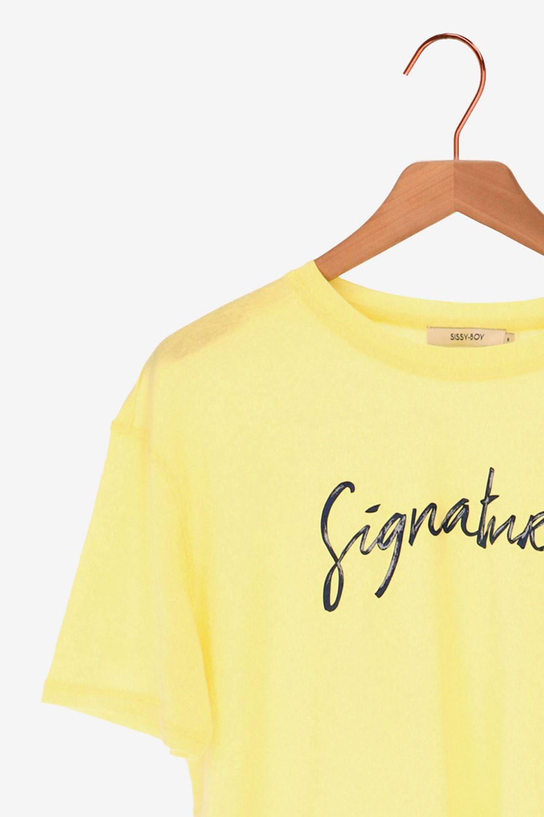 Lichtgeel T-shirt signature