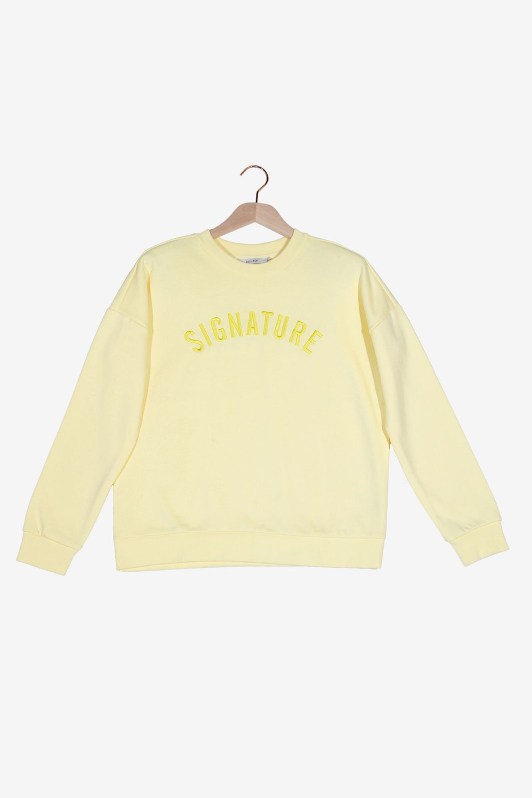 Lichtgele sweater Signature - Dames | Sissy-Boy