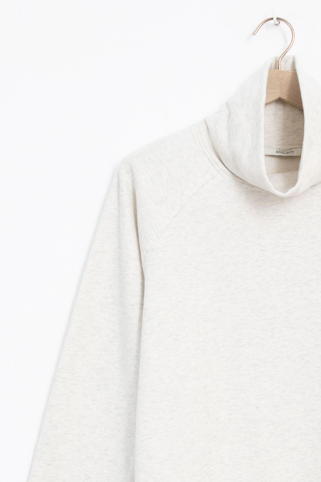 Lichtgrijze sweater met col - Dames   Sissy-Boy