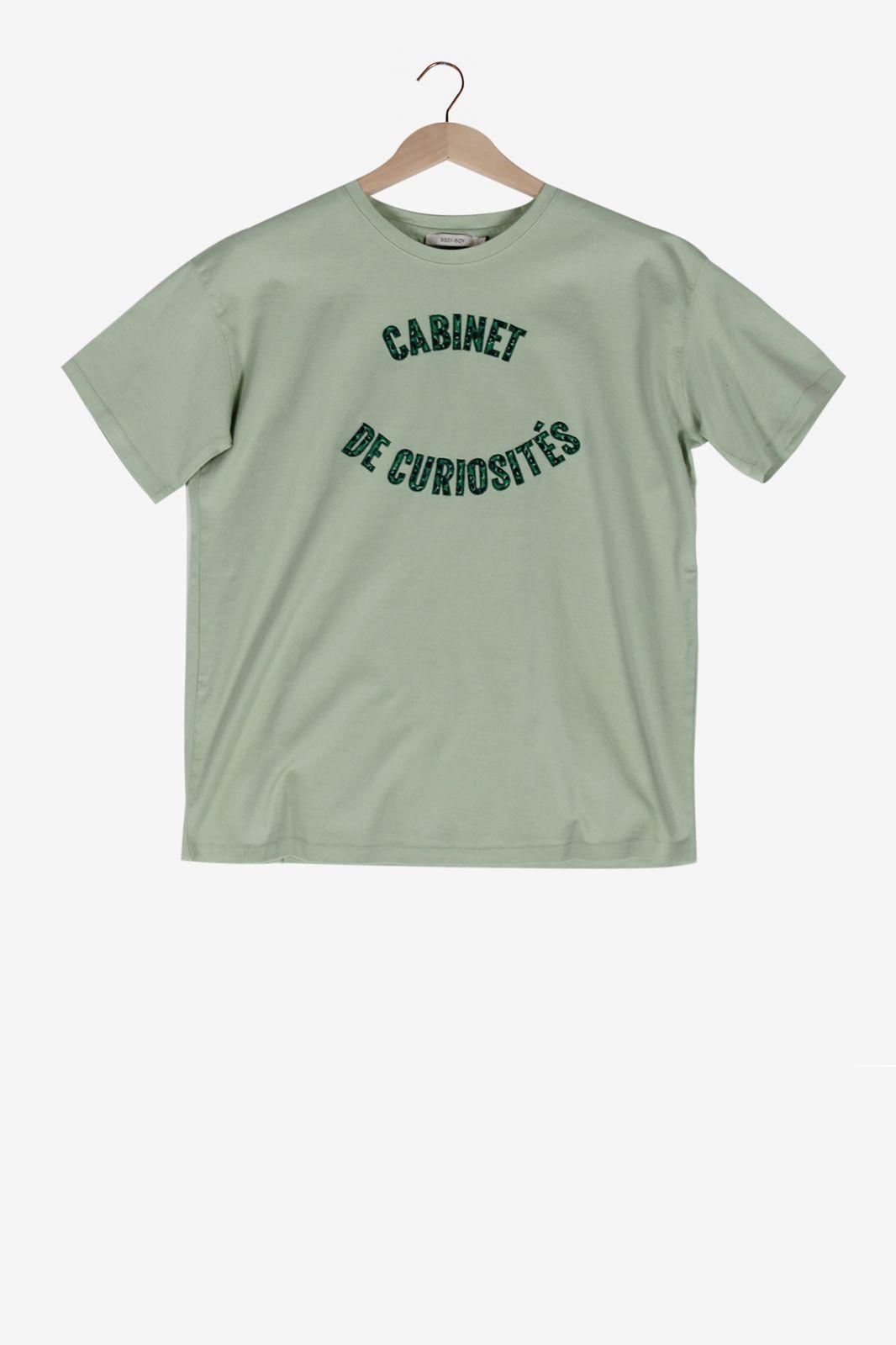 Lichtgroen t-shirt ''cabinet de curiosités''
