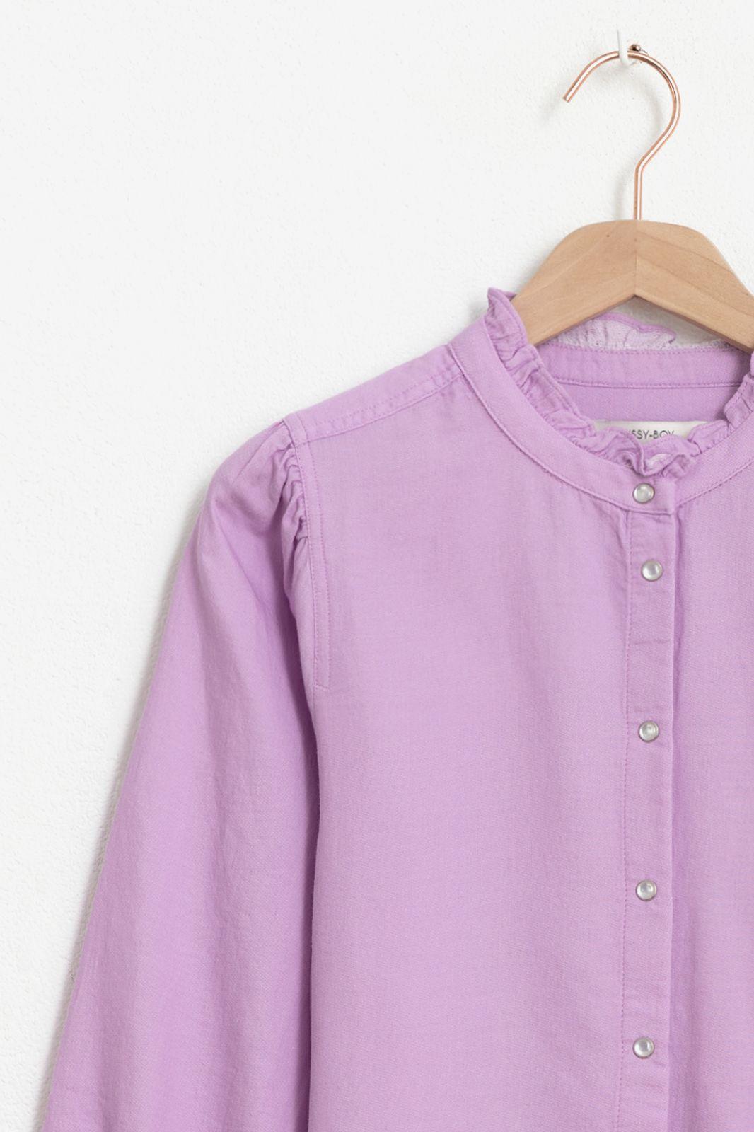 Lila denim blouse met ruffle details - Dames   Sissy-Boy
