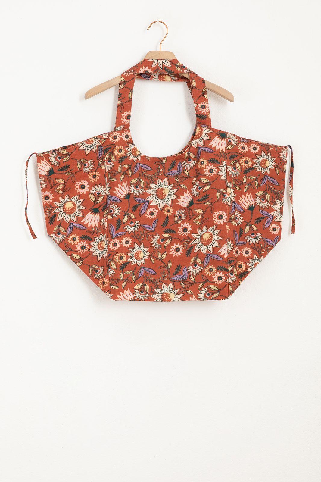 Rode shopper met all over bloemenprint - Dames | Sissy-Boy