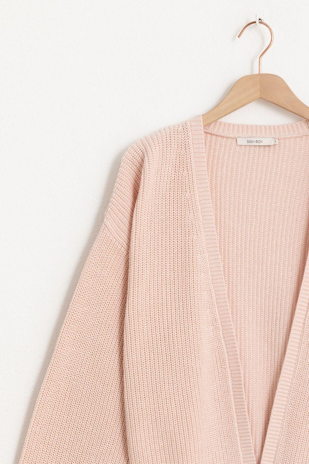 Gilet tricoté - rose clair