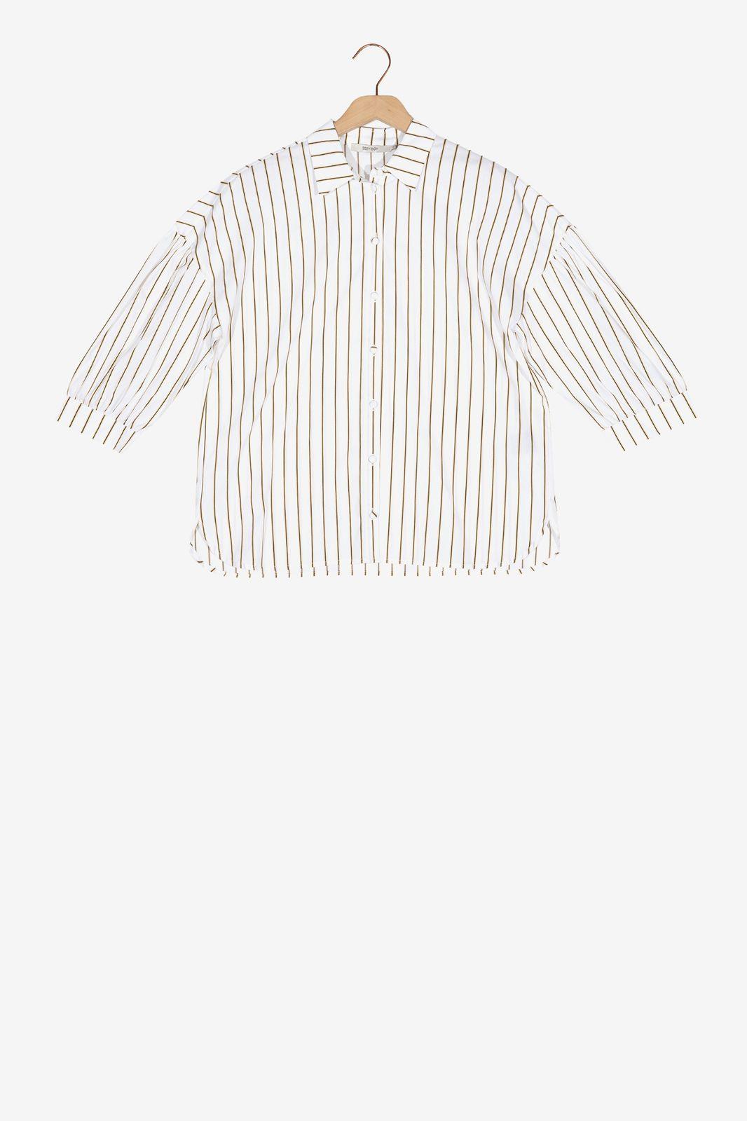 Witte blouse met zwarte strepen