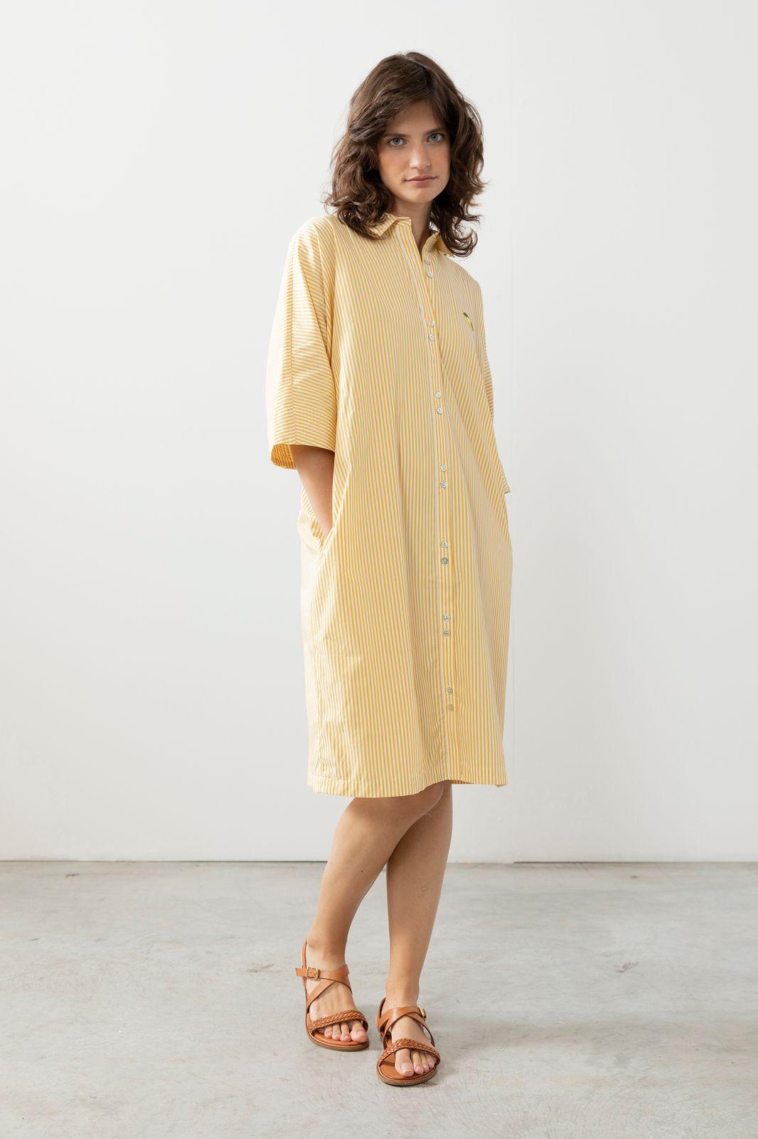 Gele overhemd jurk - Dames | Sissy-Boy