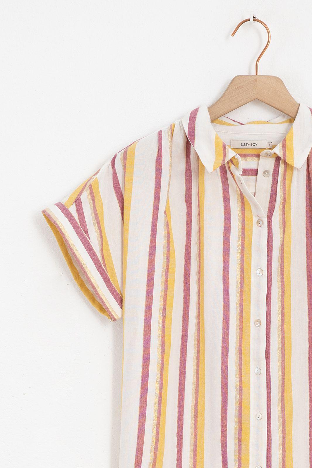 Multicolor blouse gestreept