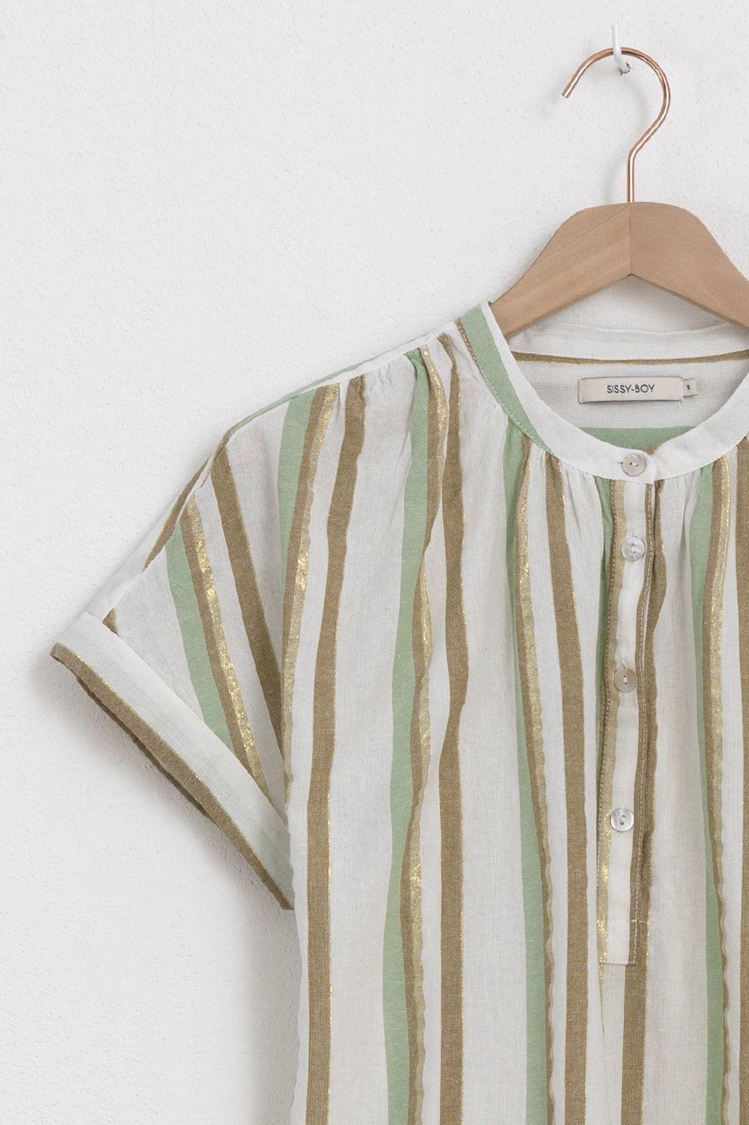 Multicolor blouse met korte mouwen - Dames | Sissy-Boy