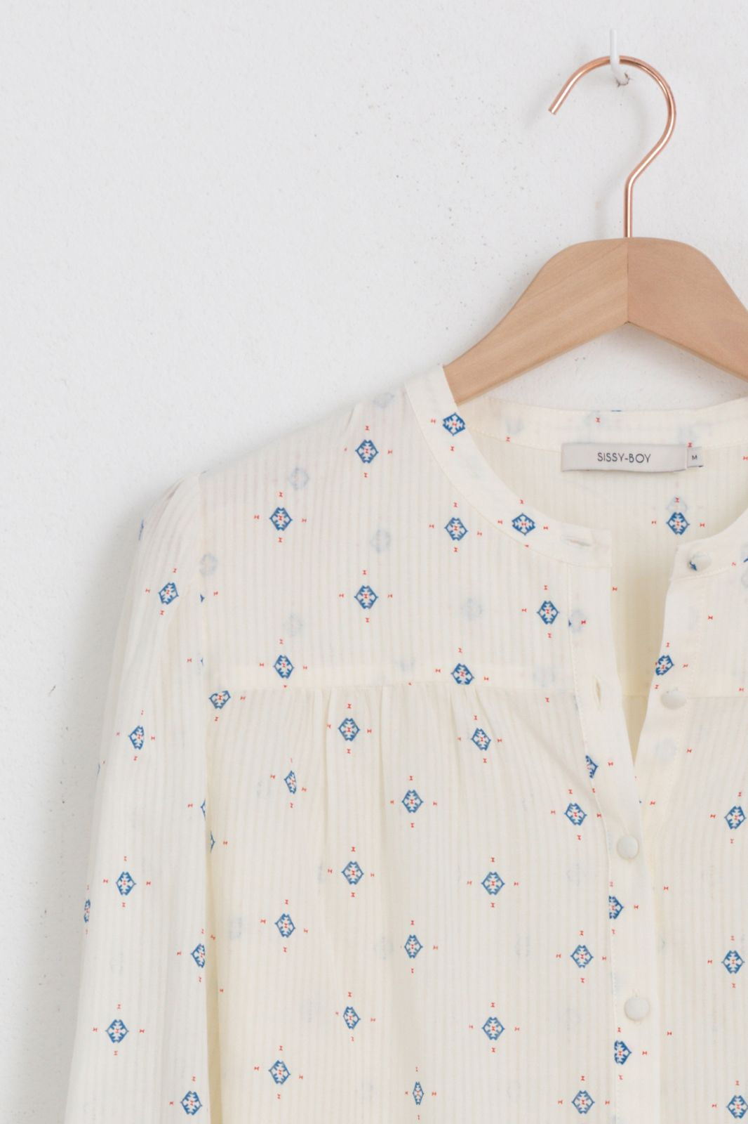 Off-white blouse met print - Dames | Sissy-Boy