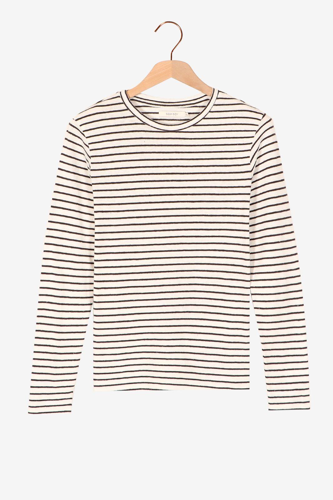 Zwart wit gestreept t-shirt - Dames   Sissy-Boy