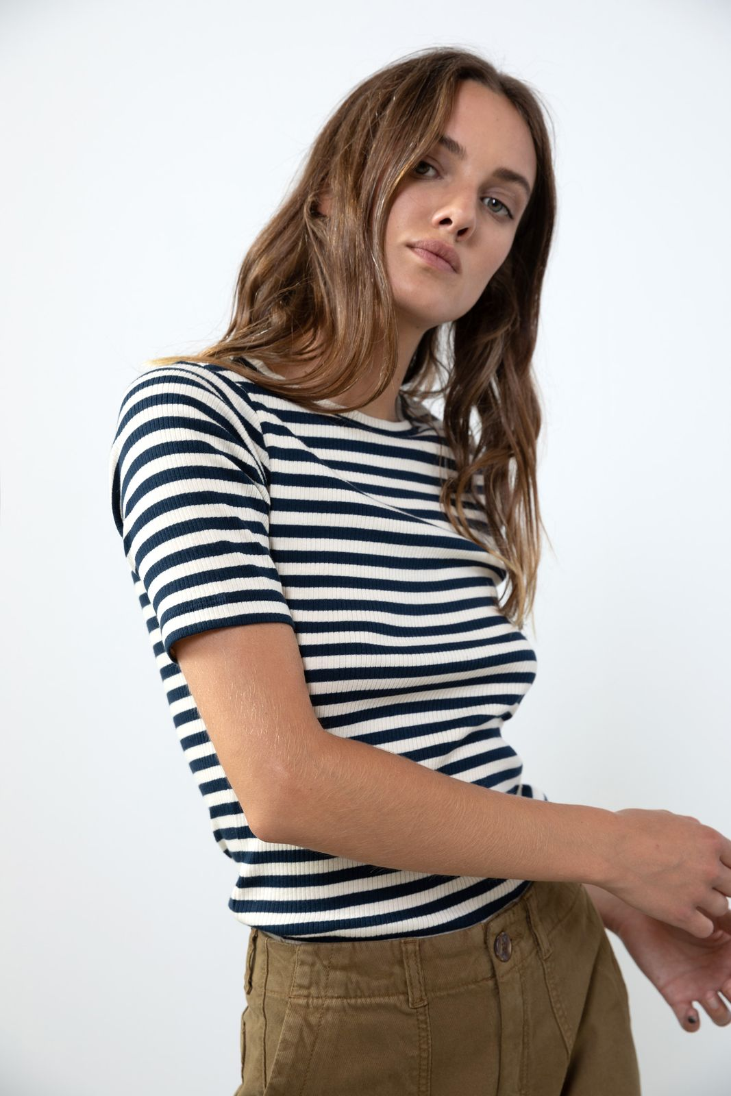 Gestreept rib t-shirt - Dames | Sissy-Boy
