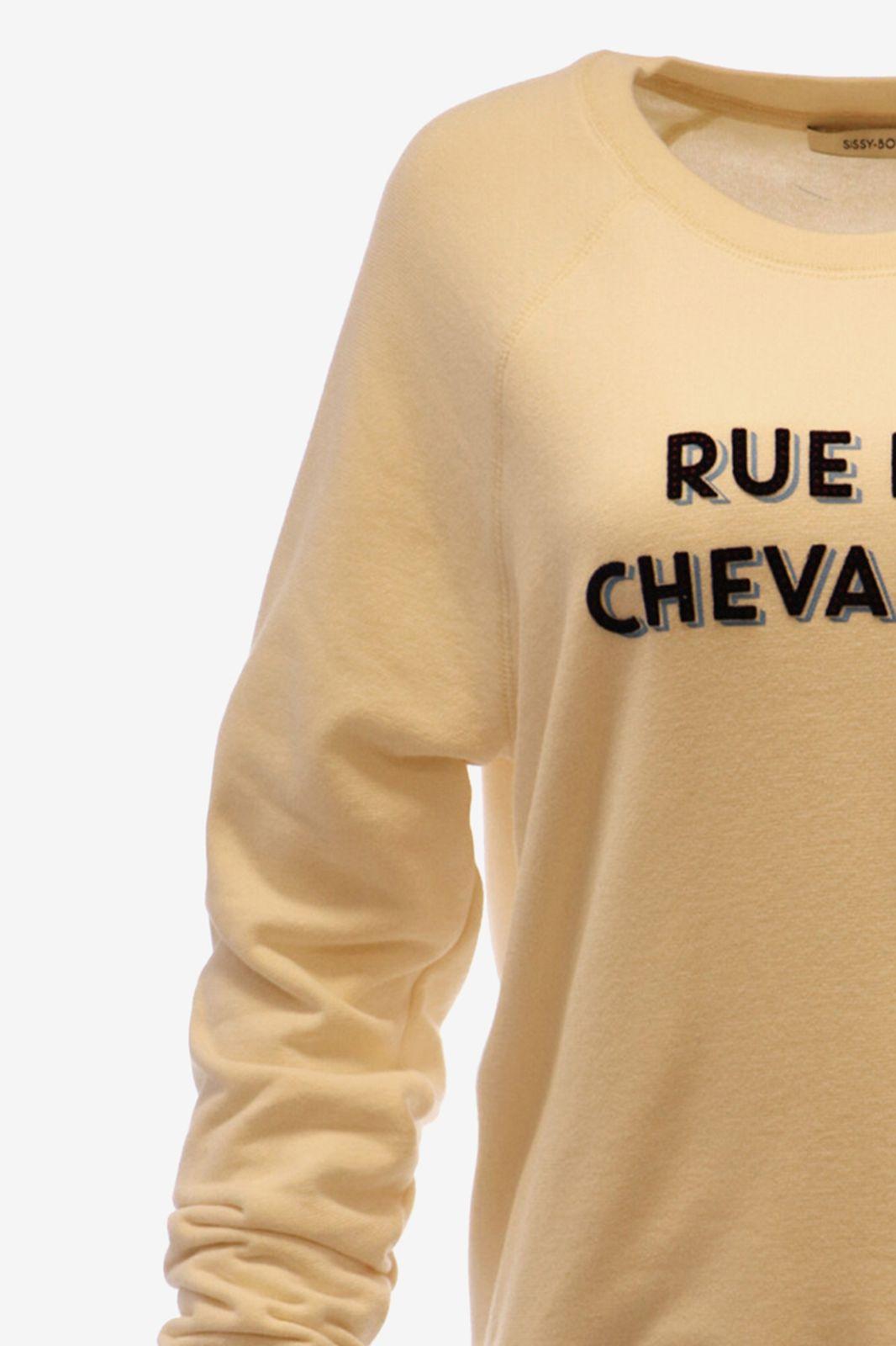Off white sweater met tekst - Dames | Sissy-Boy