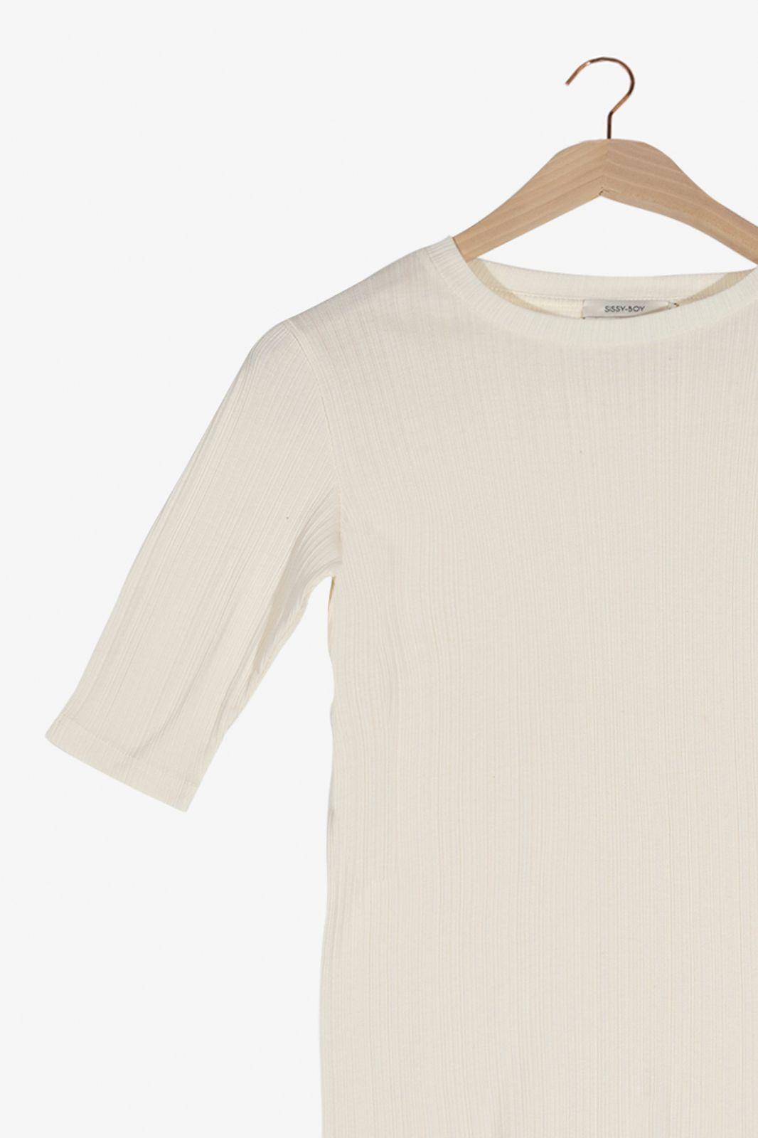 Off white rib shirt - Dames   Sissy-Boy