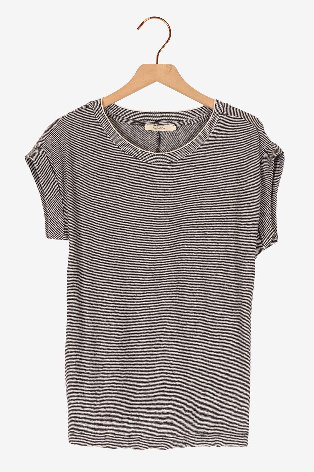 Wit t-shirt gestreept - Dames | Sissy-Boy