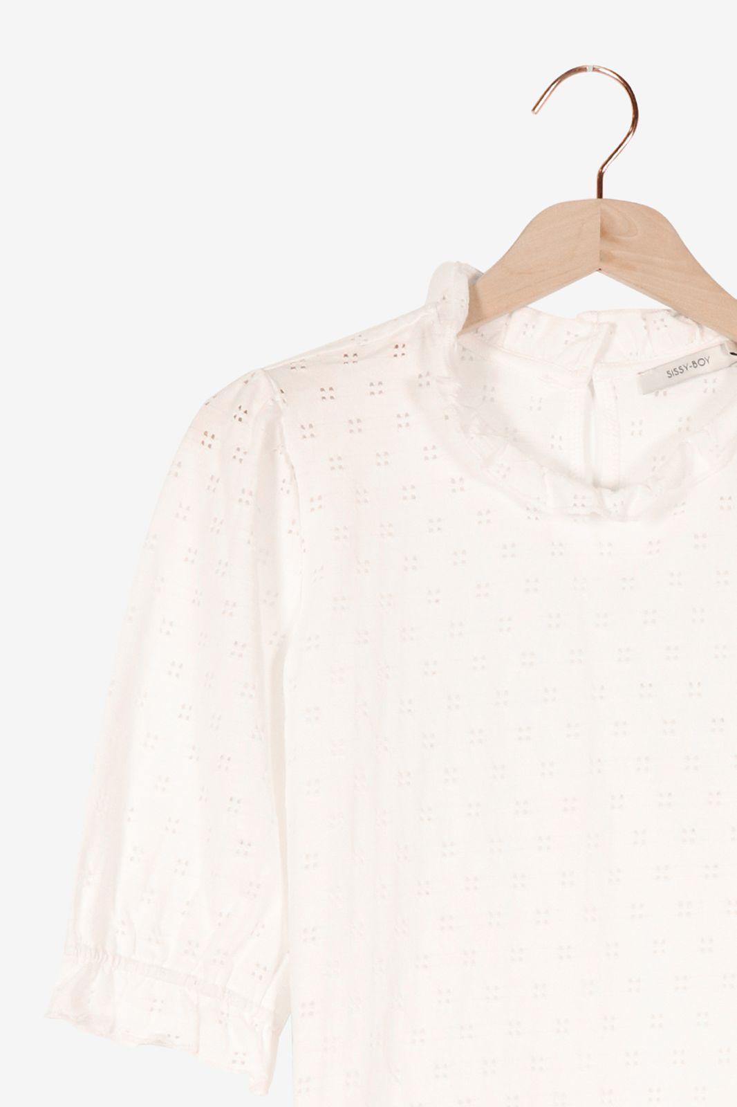 Wit t-shirt met borduursel - Dames | Sissy-Boy
