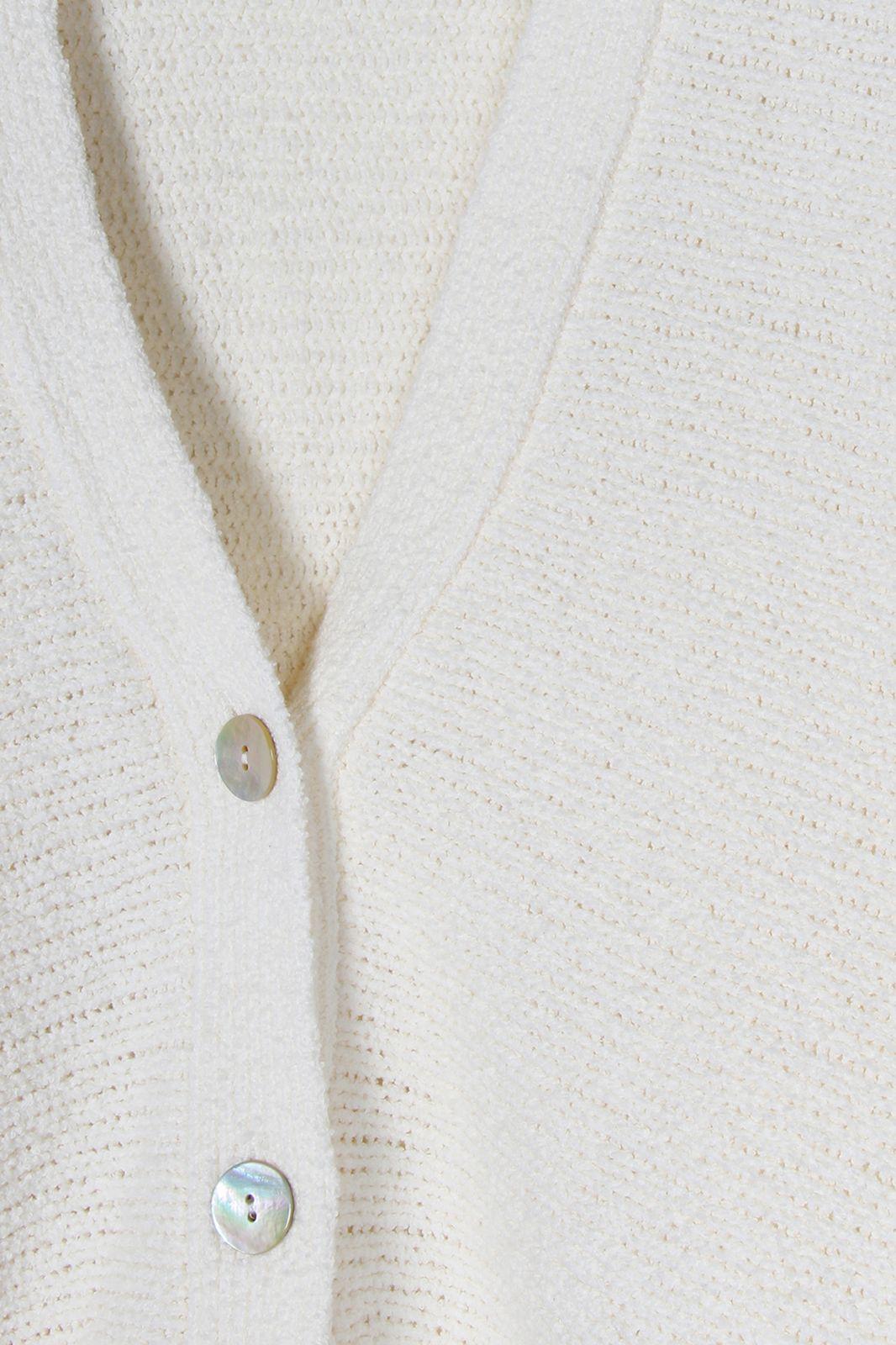 Offwhite vest grof gebreid