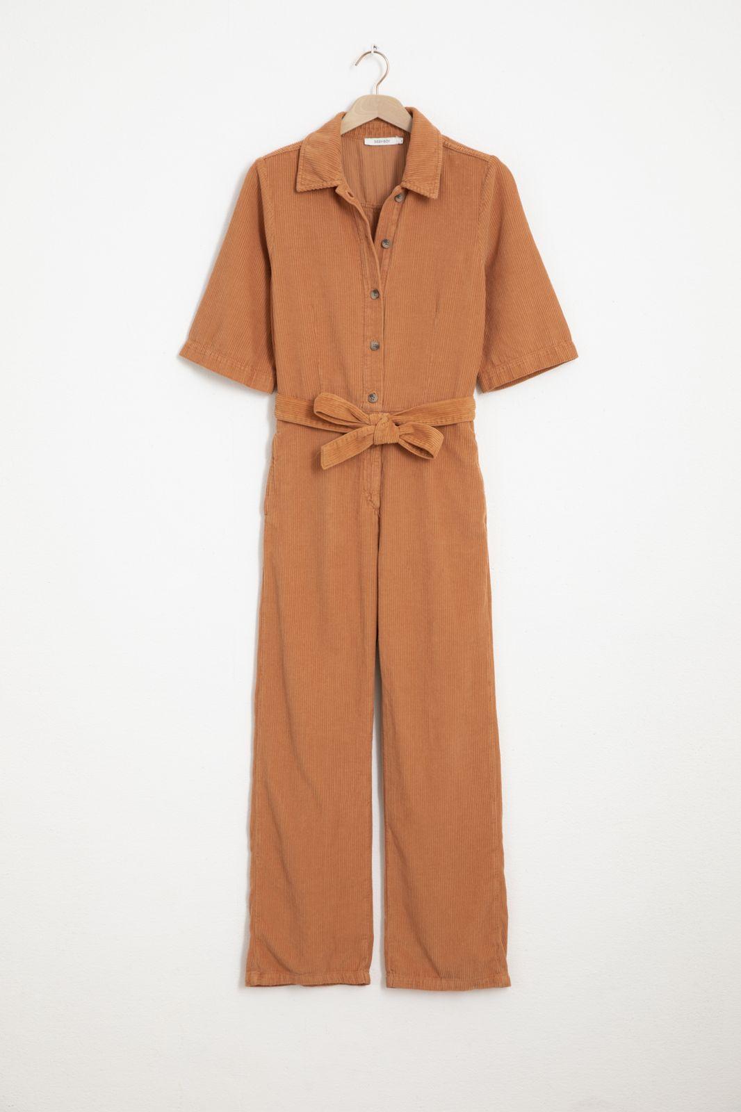 Oranje corduroy jumpsuit - Dames   Sissy-Boy