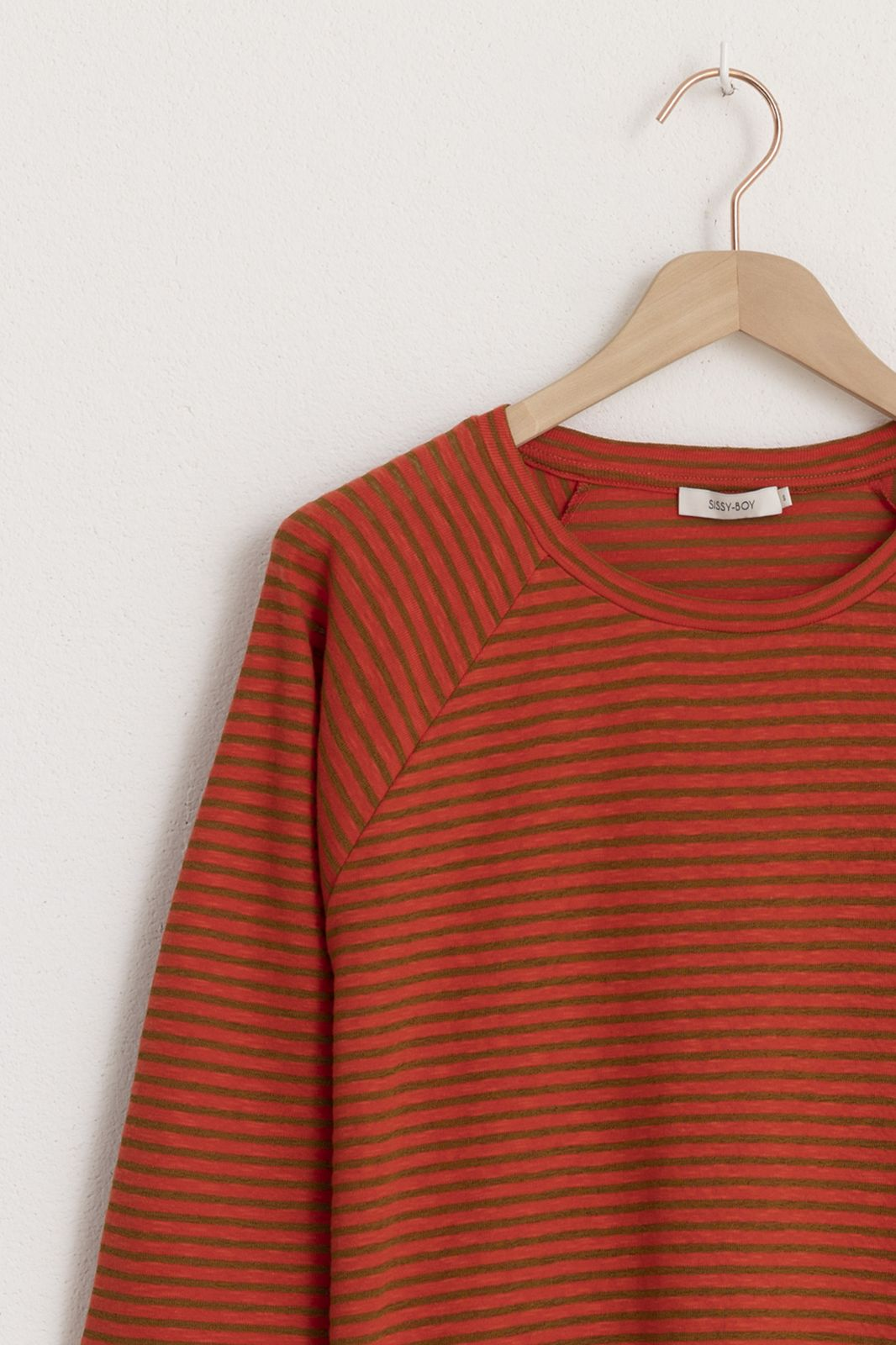 Rood gestreept t-shirt - Dames | Sissy-Boy