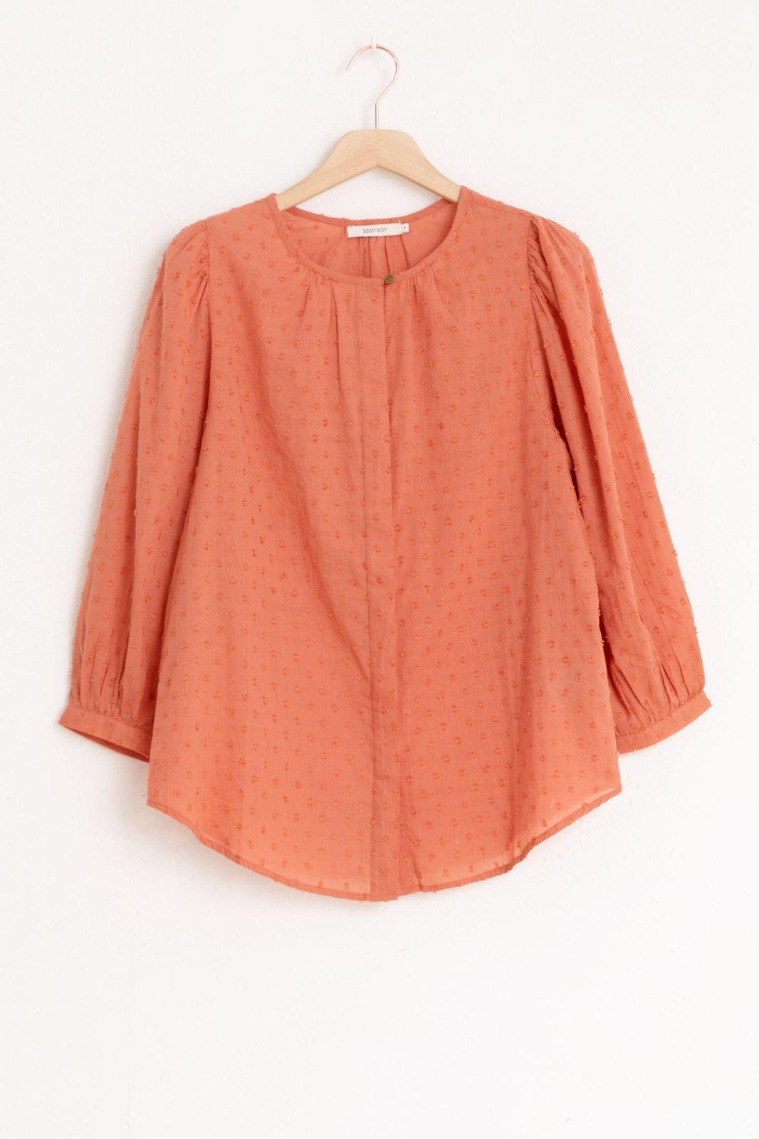 Rode blouse met structuur - Dames | Sissy-Boy