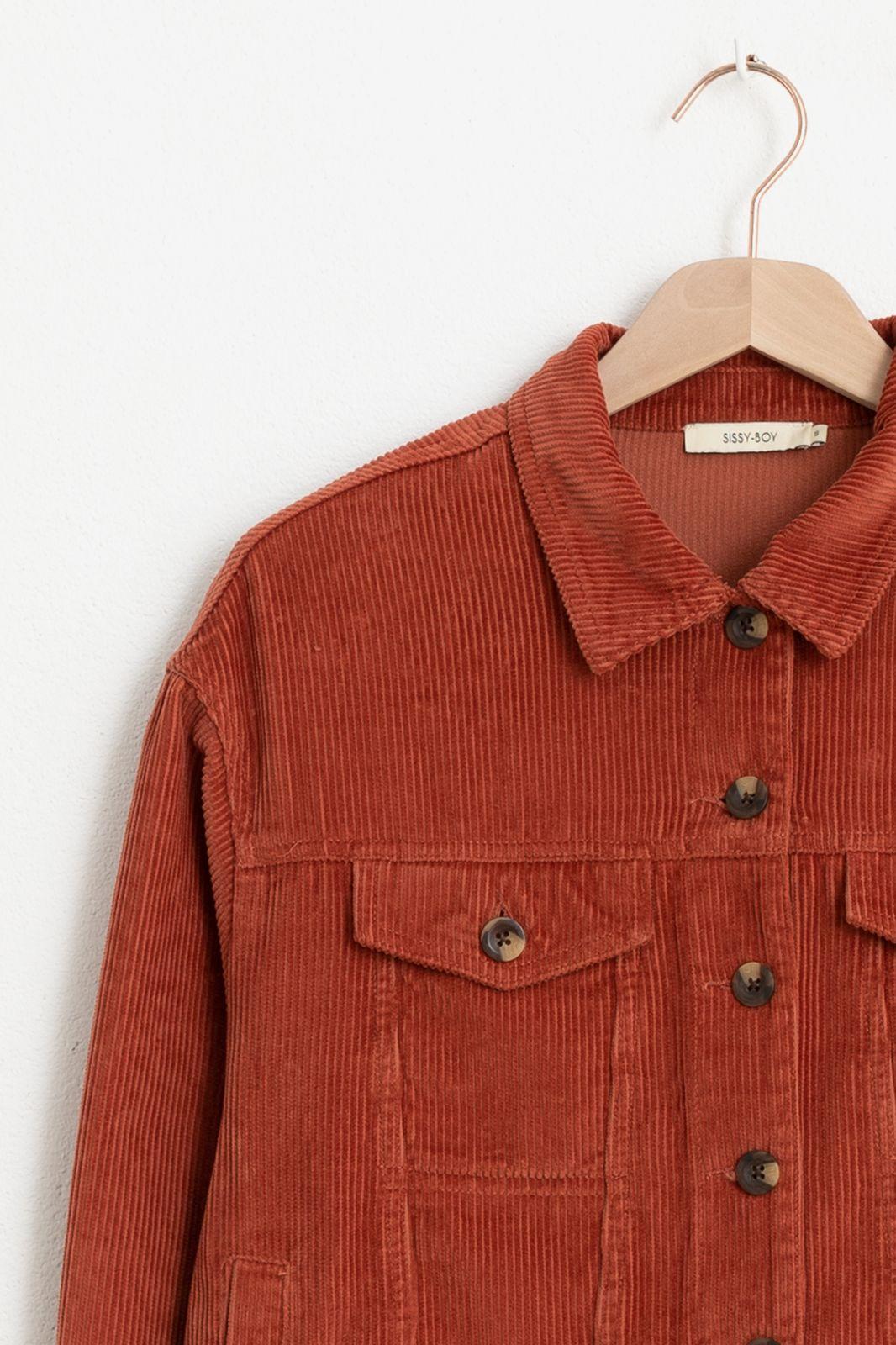 Rood corduroy jacket