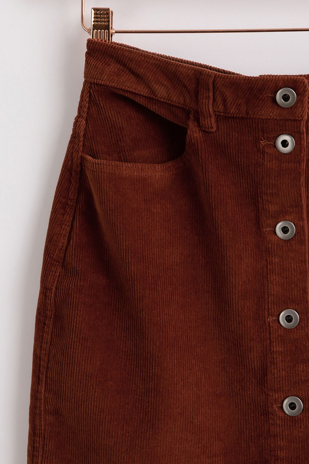Rood bruine corduroy rok - Dames | Sissy-Boy