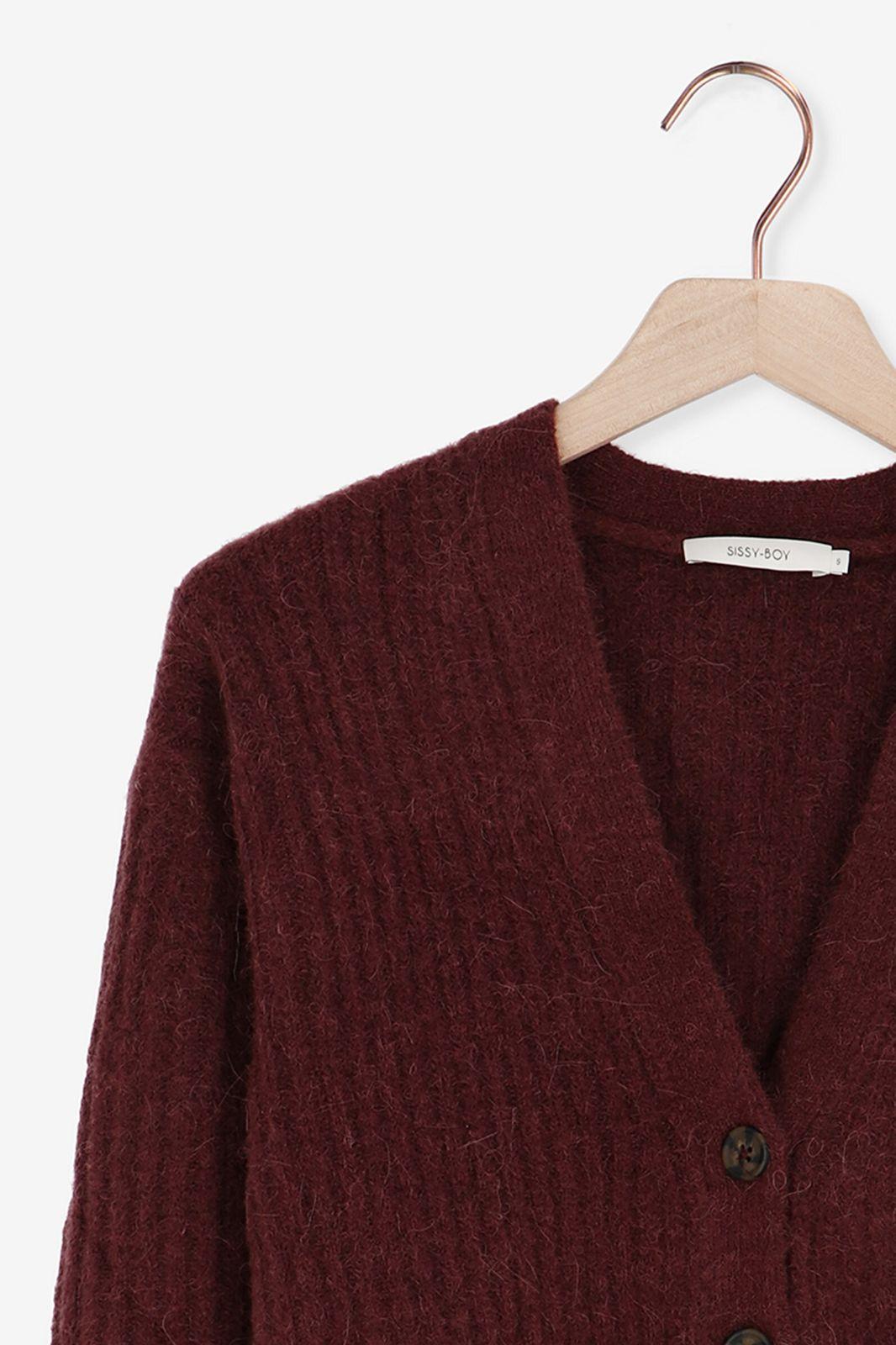 Rood bruin vest - Dames   Sissy-Boy