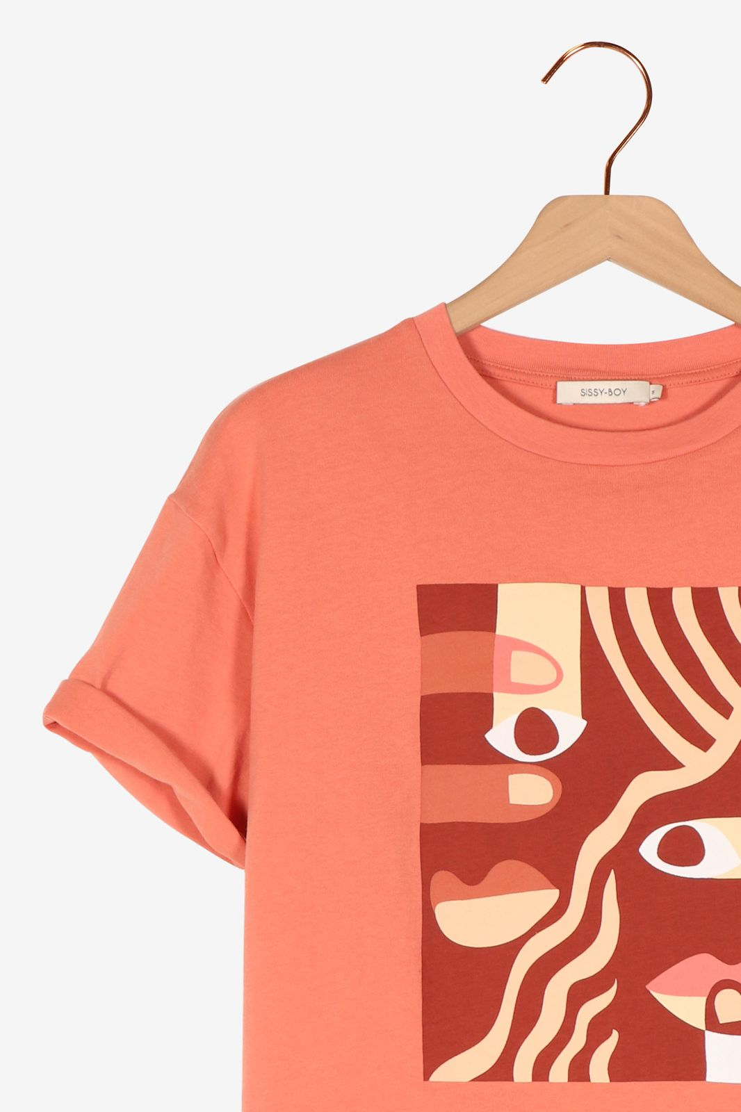 Roze t-shirt met artwork - Dames | Sissy-Boy