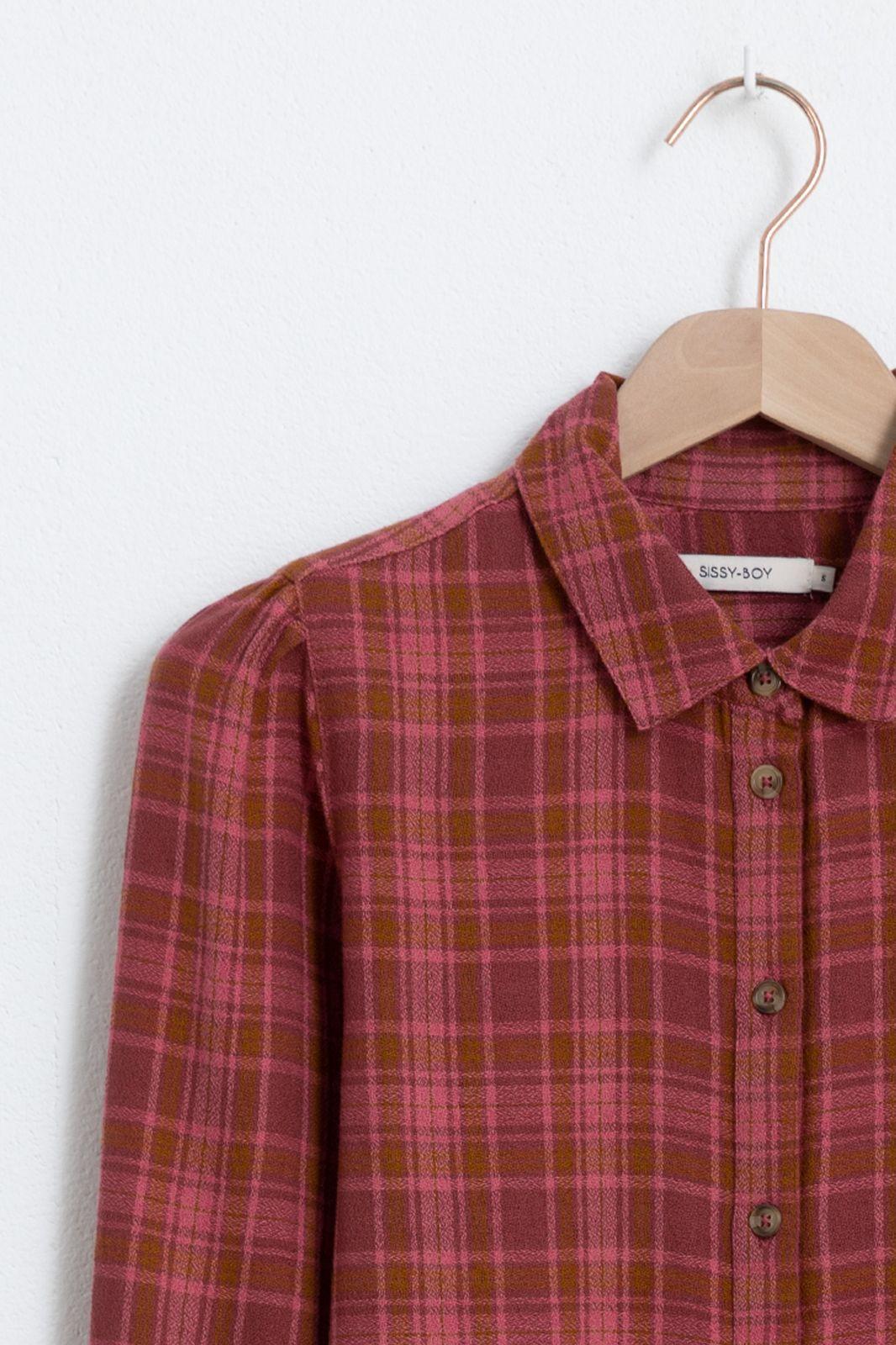 Roze blouse ruiten - Dames | Sissy-Boy