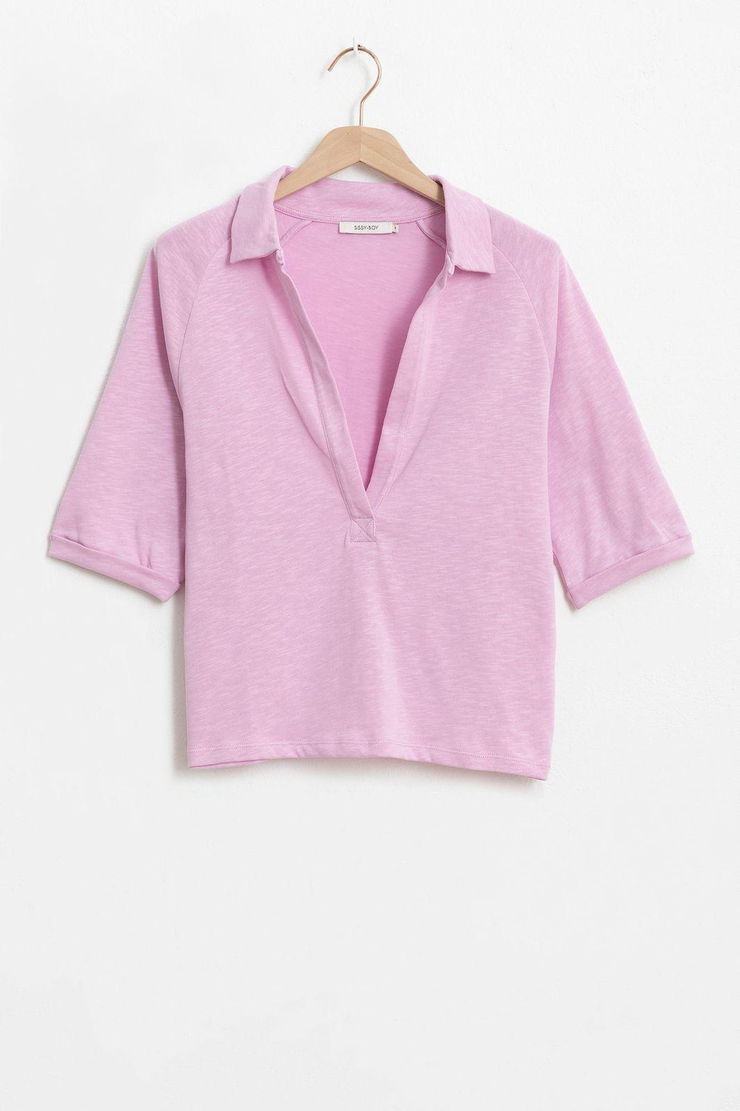 Roze polo T-shirt