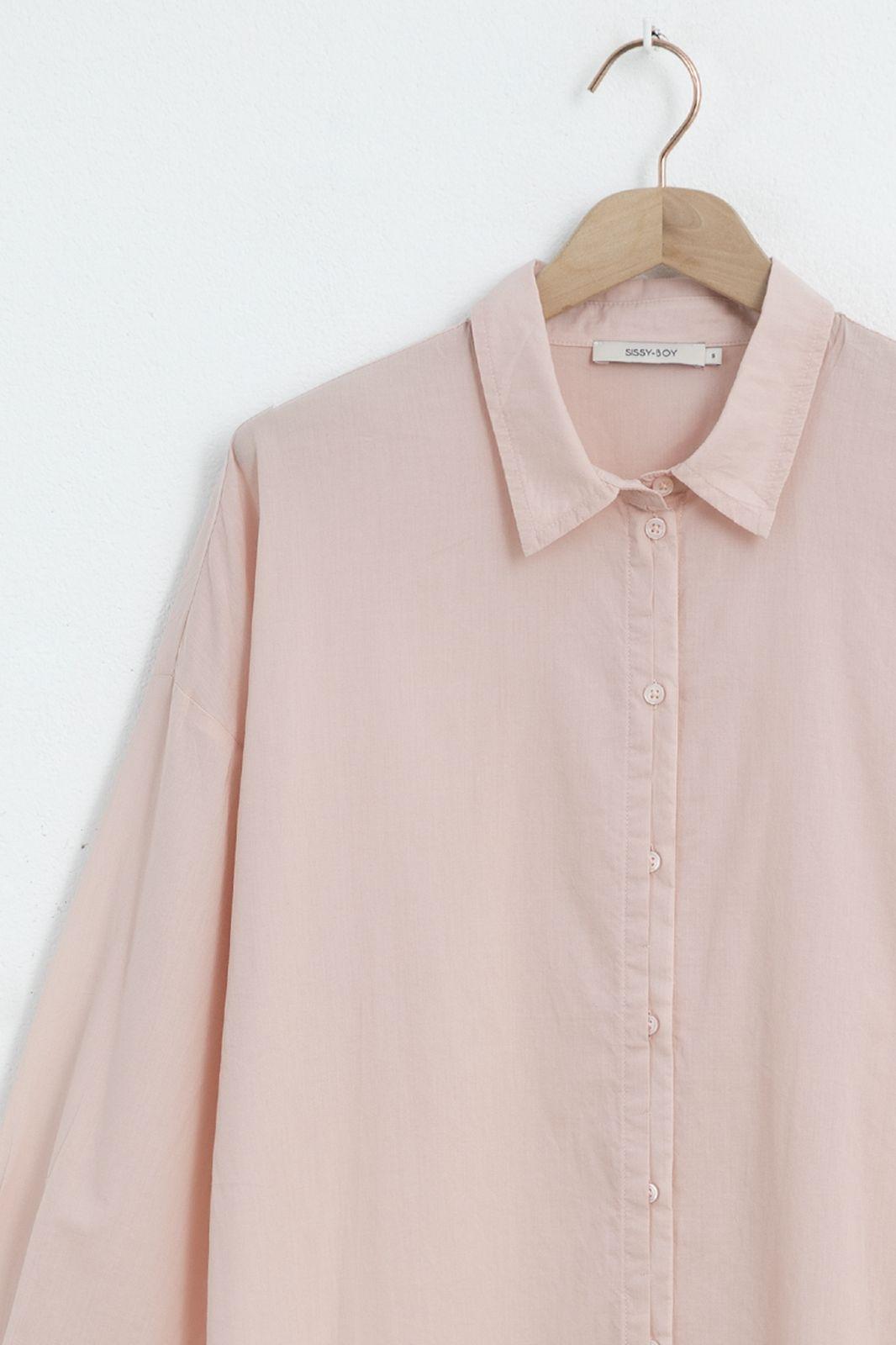 Roze katoenen blouse