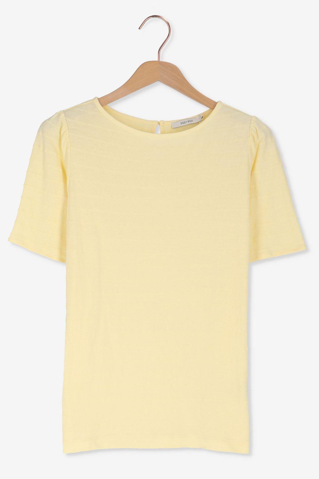 Geel t-shirt met hoge hals - Dames | Sissy-Boy