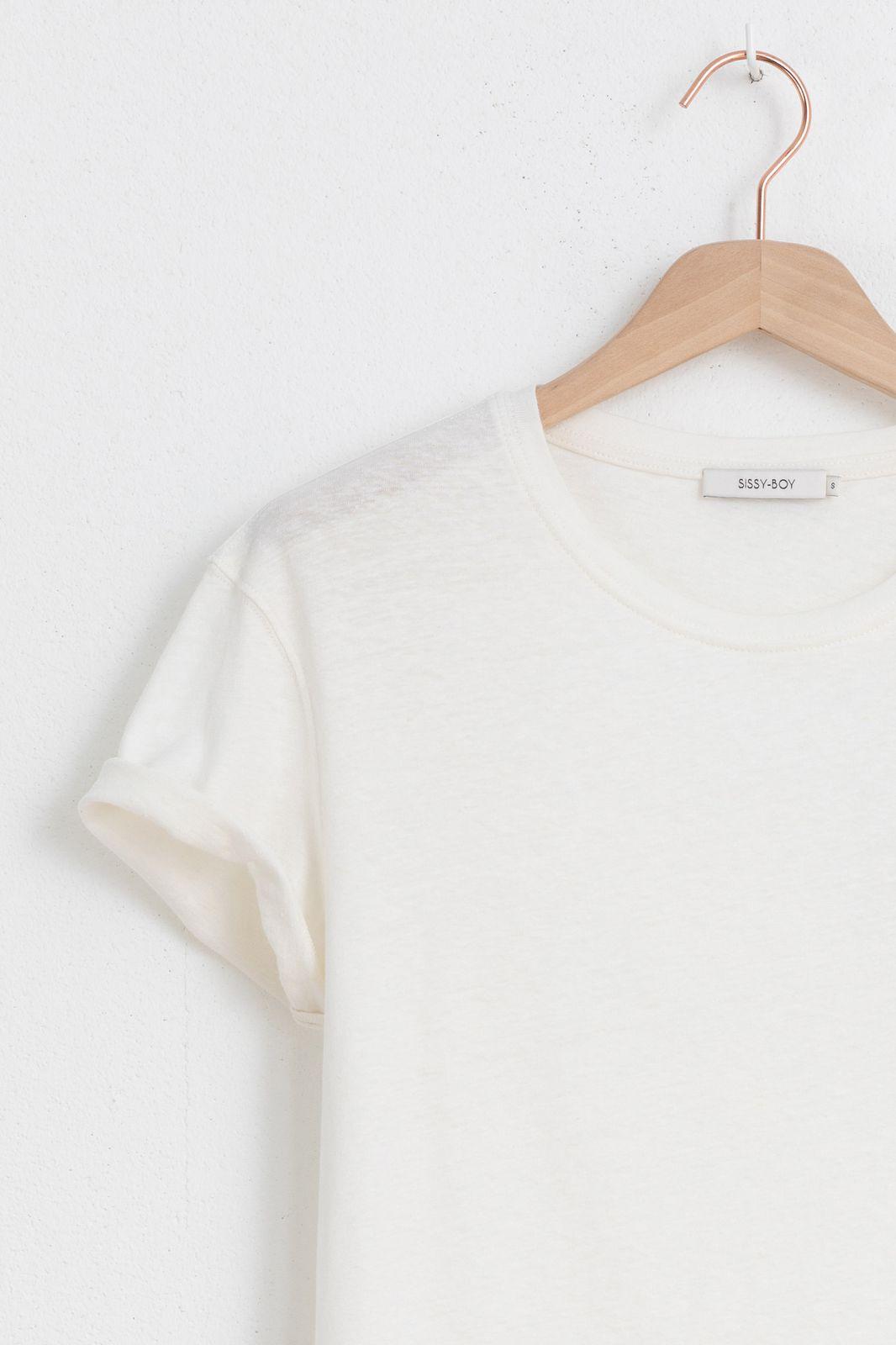 Wit T-shirt met borst detail - Dames | Sissy-Boy