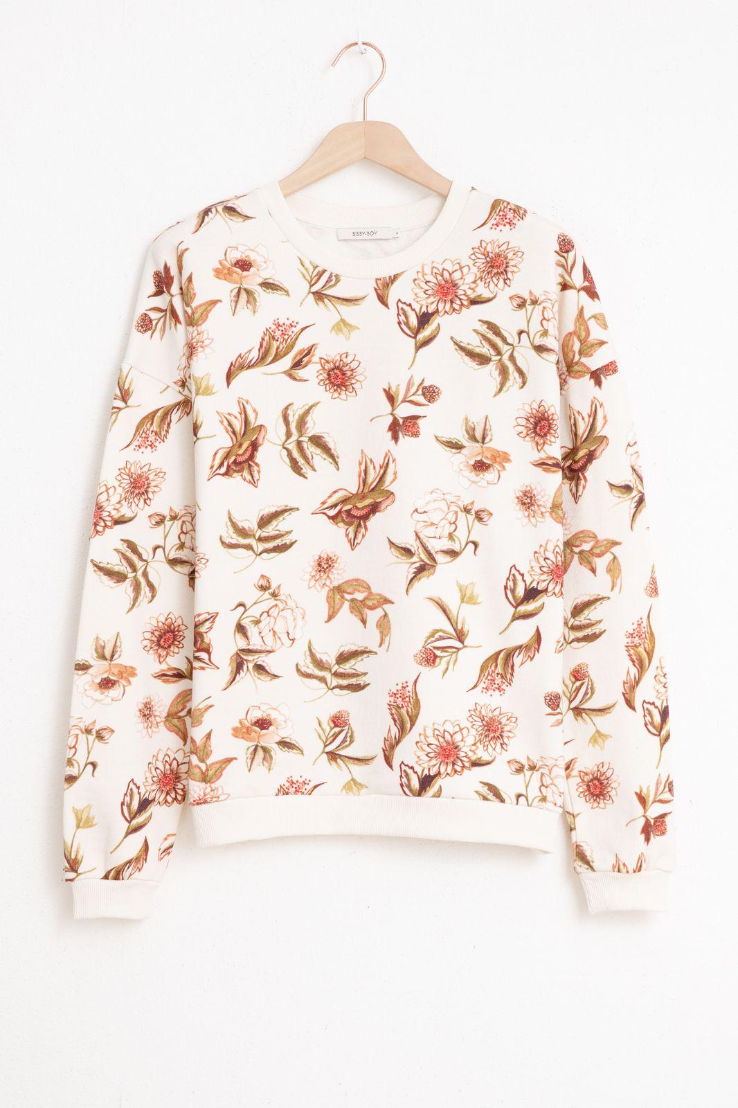 Witte sweater met print