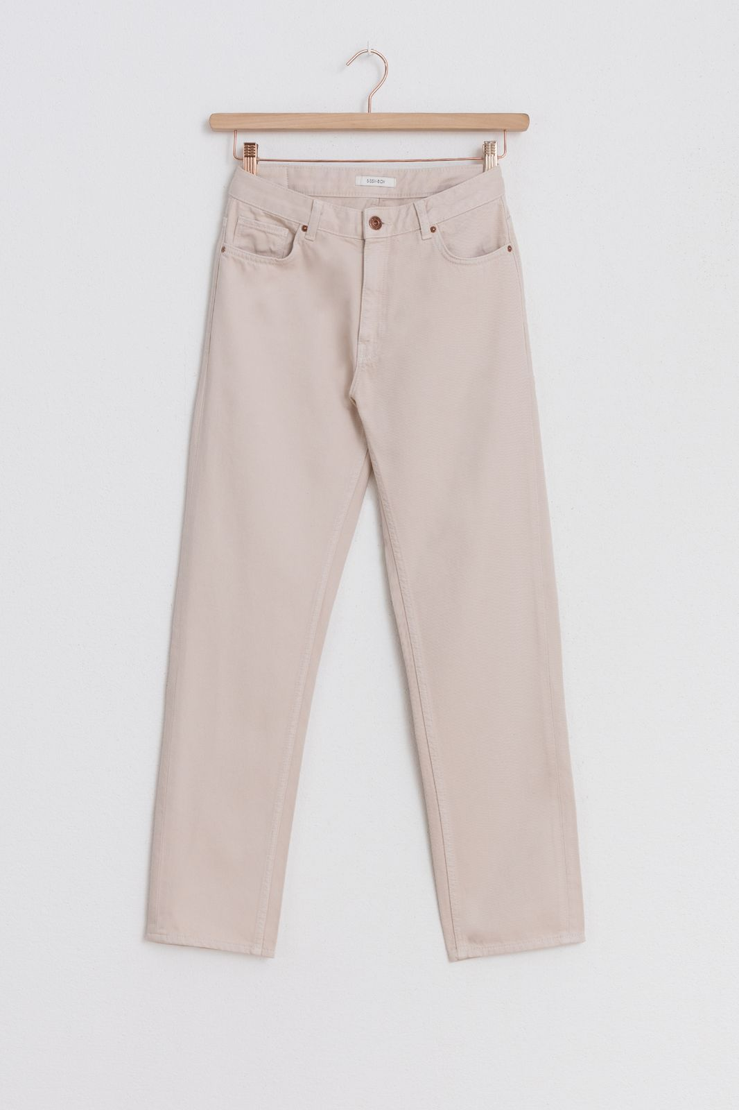 Offwhite broek straight fit