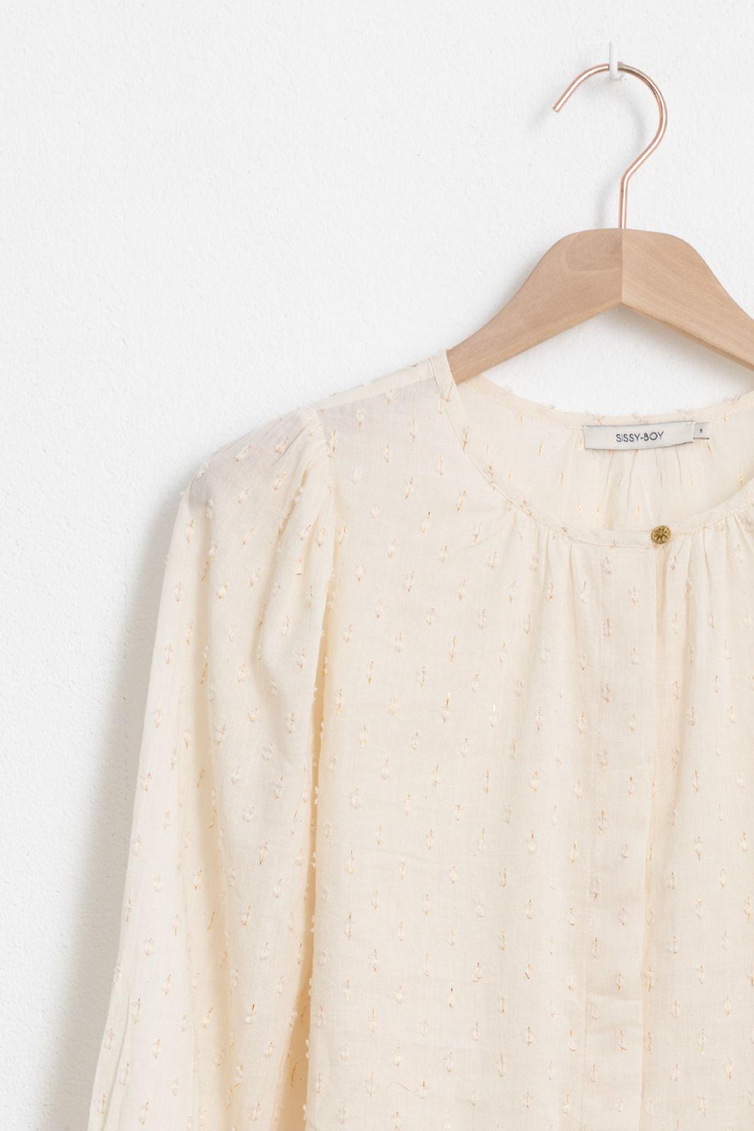 Offwhite blouse met pofmouw - Dames | Sissy-Boy