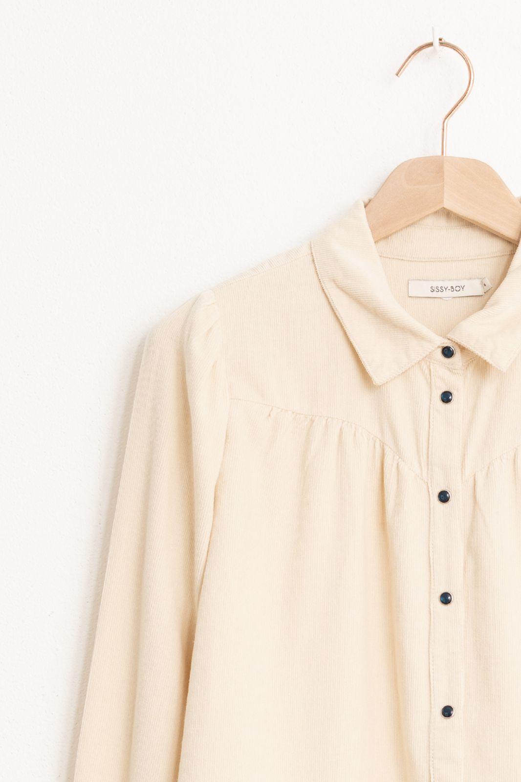 Offwhite corduroy blouse